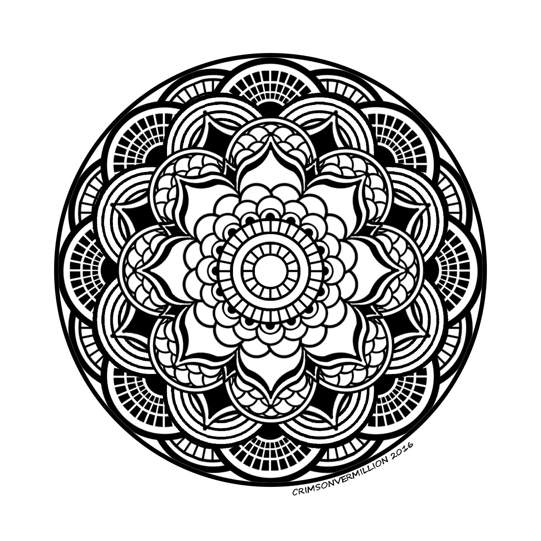 Disegni da Colorare per Adulti : Mandalas - 14