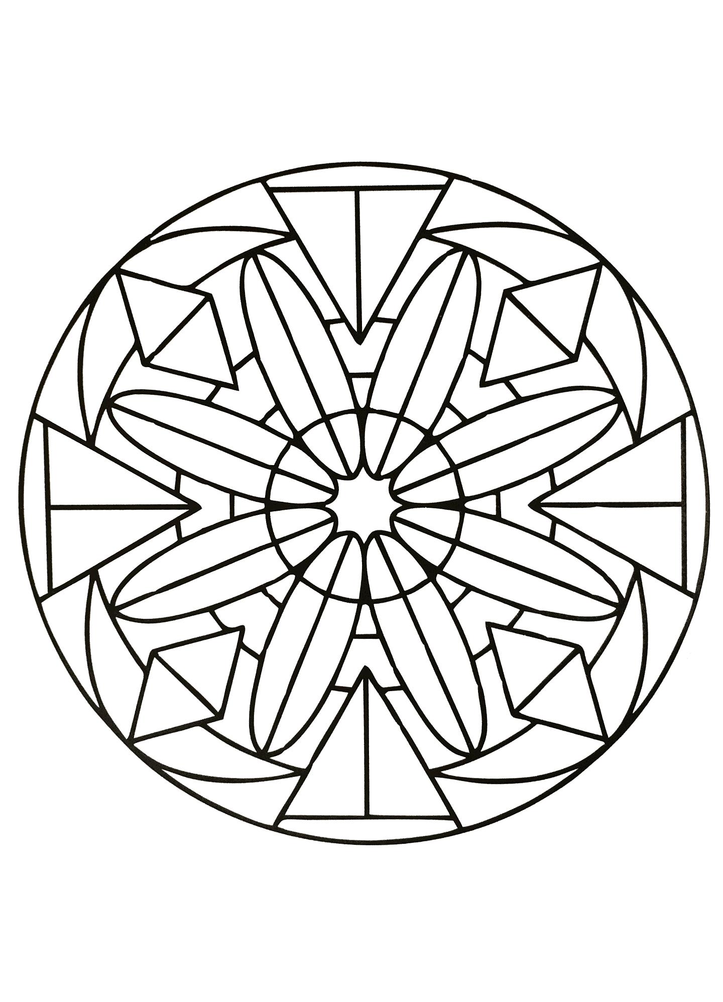 Disegni da colorare per adulti : Mandalas - 52