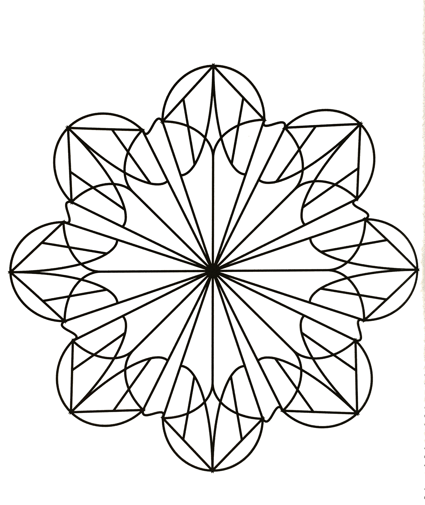 Disegni da colorare per adulti : Mandalas - 60