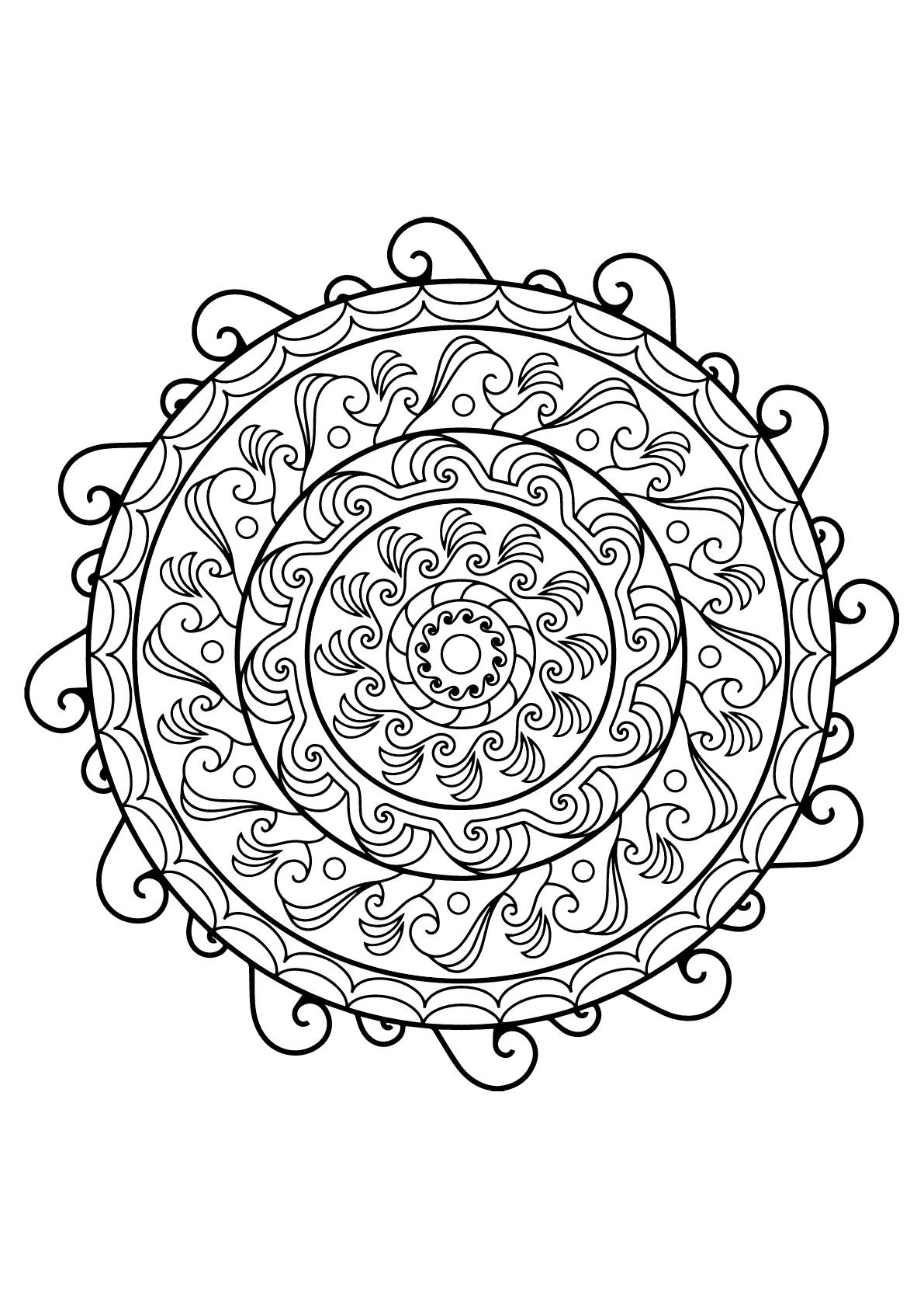 Disegni da colorare per adulti : Mandalas - 21