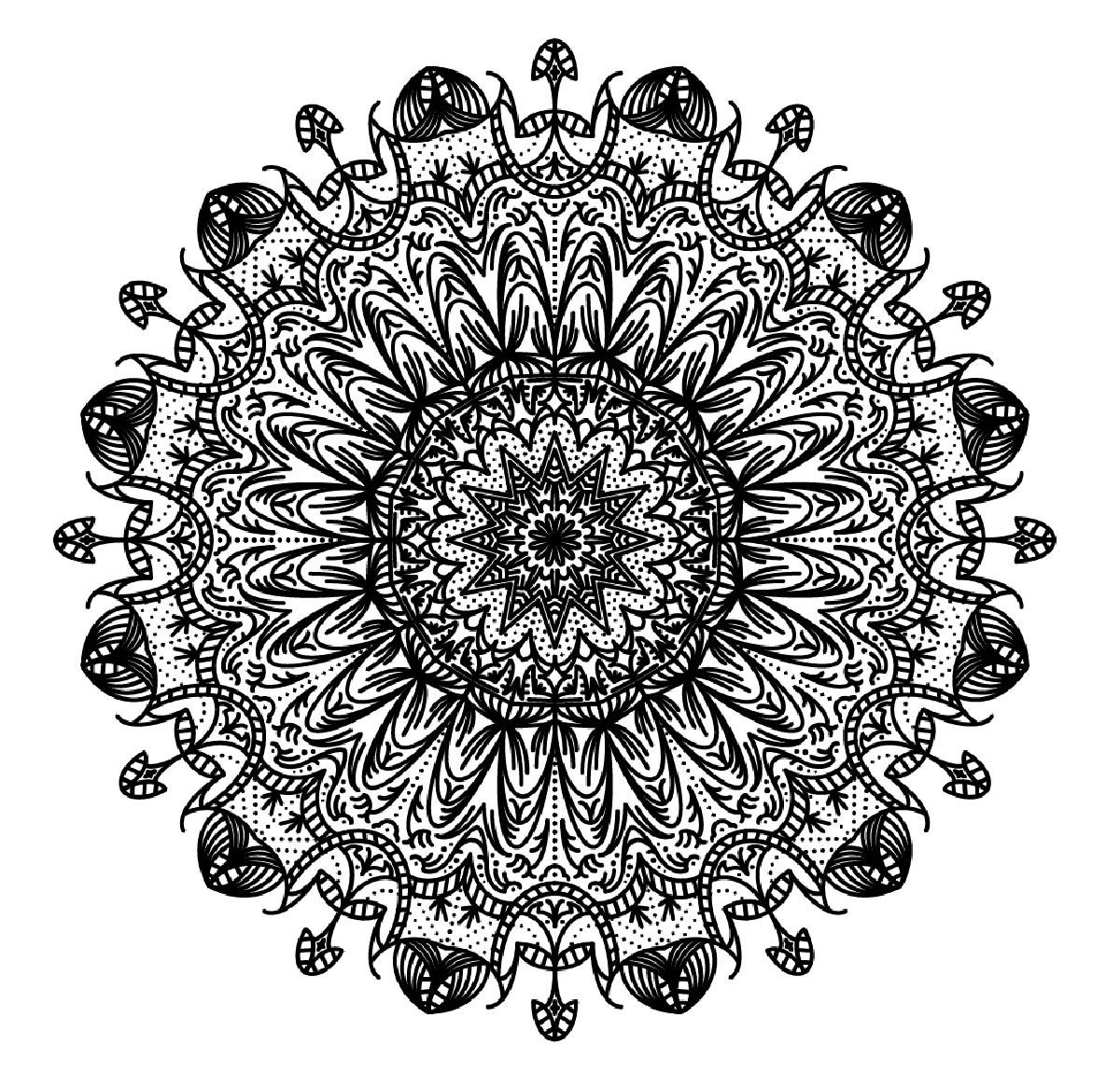 Mandalas 33210 mandalas disegni da colorare per adulti - Libero tacchino da colorare pagina ...