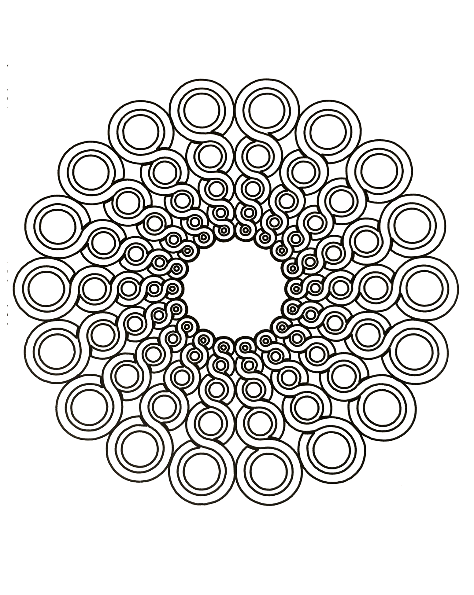Disegni da colorare per adulti : Mandalas - 68