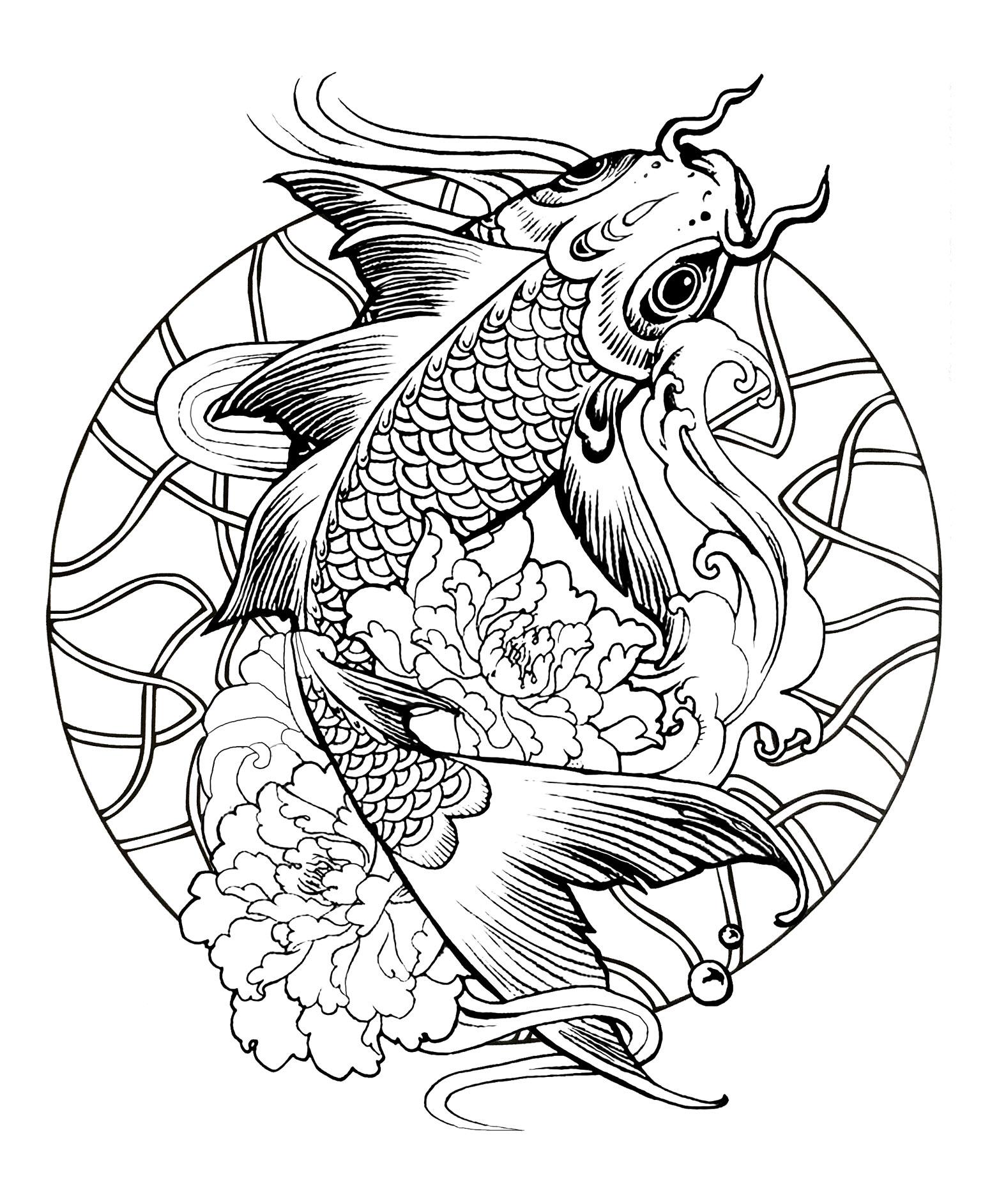 Mandalas 37734 mandalas disegni da colorare per adulti - Pagine da colorare pesci per adulti ...