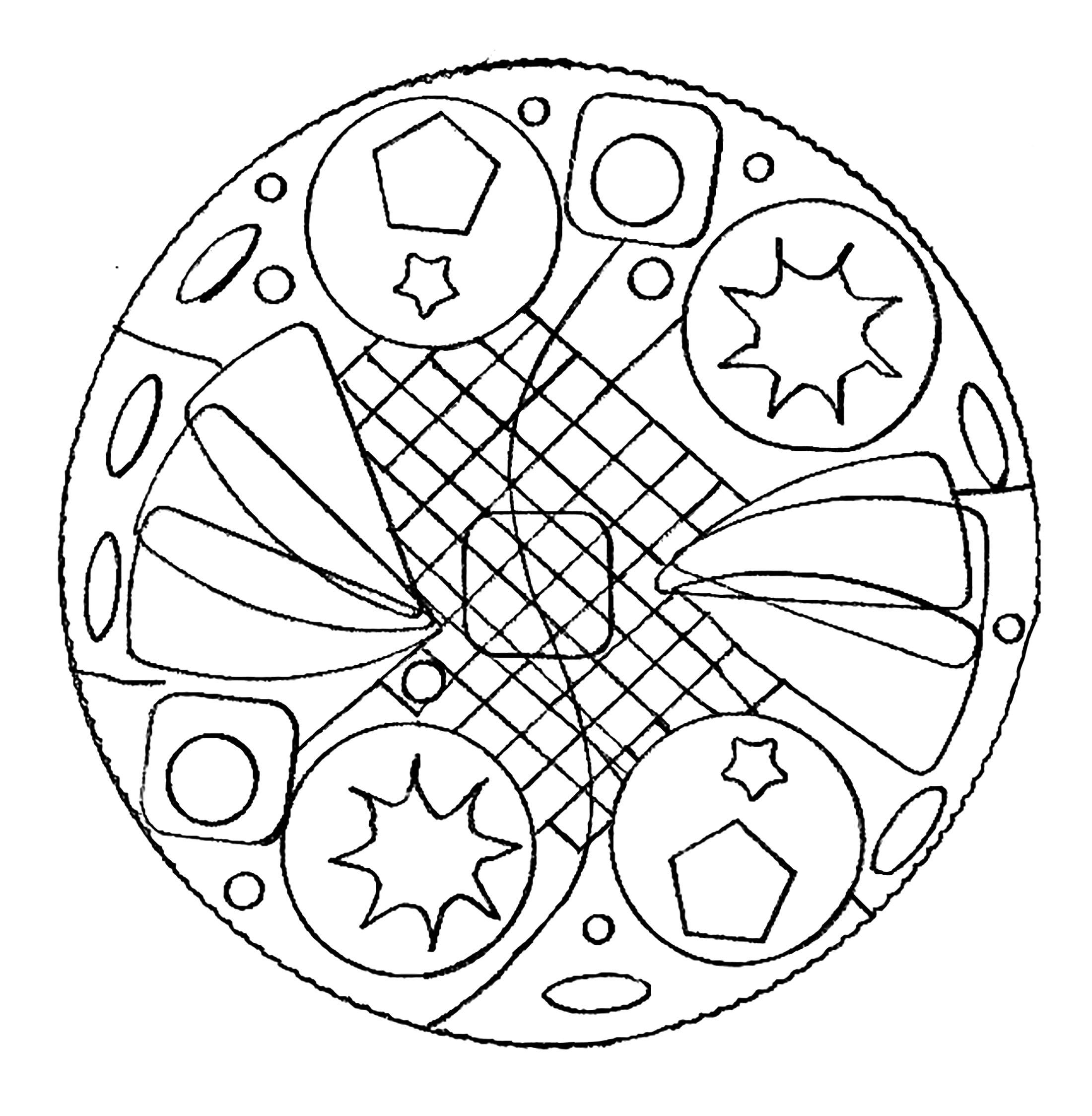 Disegni da colorare per adulti : Mandalas - 167