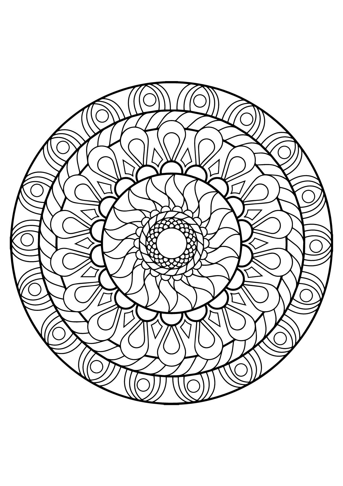 Disegni da colorare per adulti : Mandalas - 12