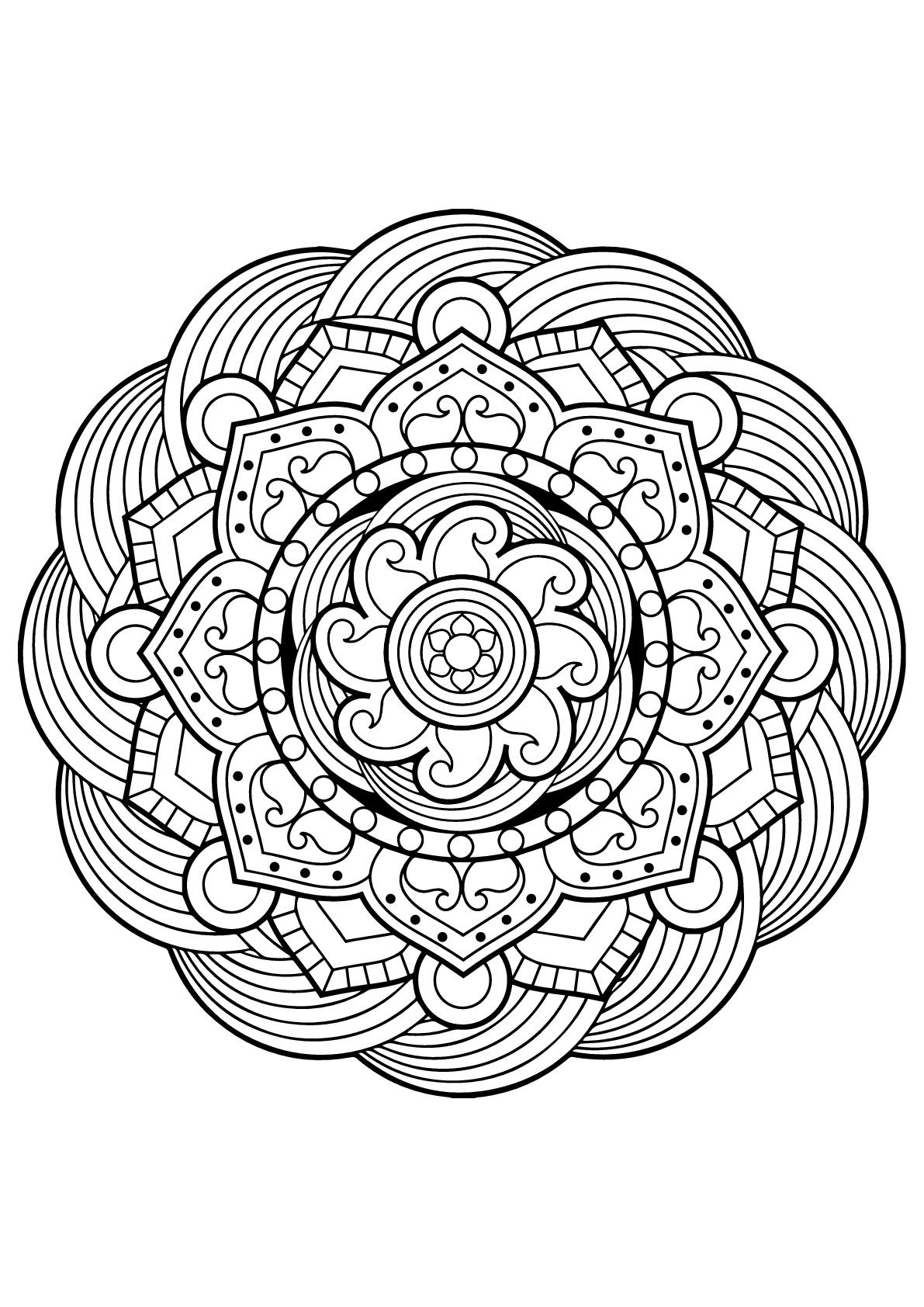 Disegni da colorare per adulti : Mandalas - 5