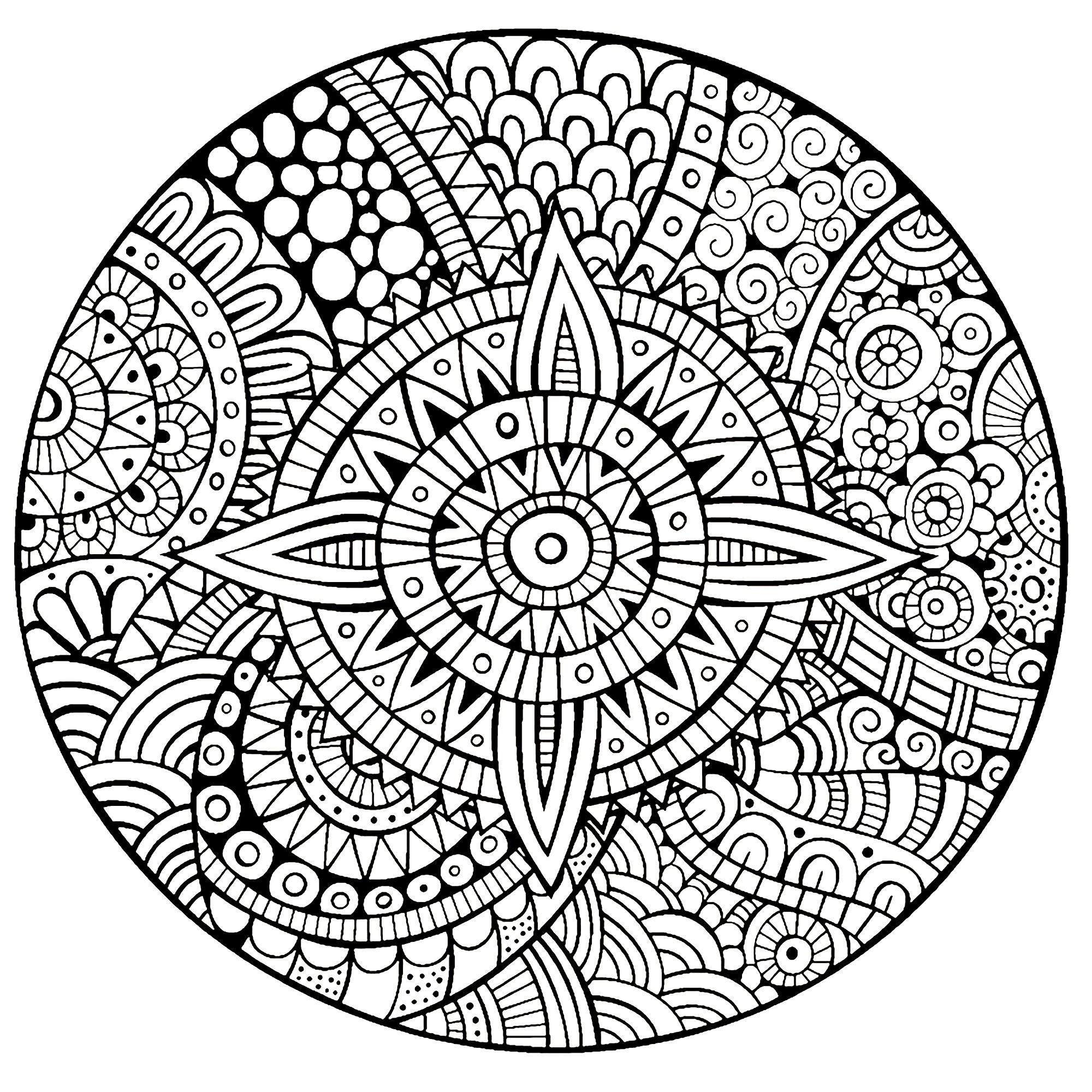 Disegni da colorare per adulti : Mandalas - 210