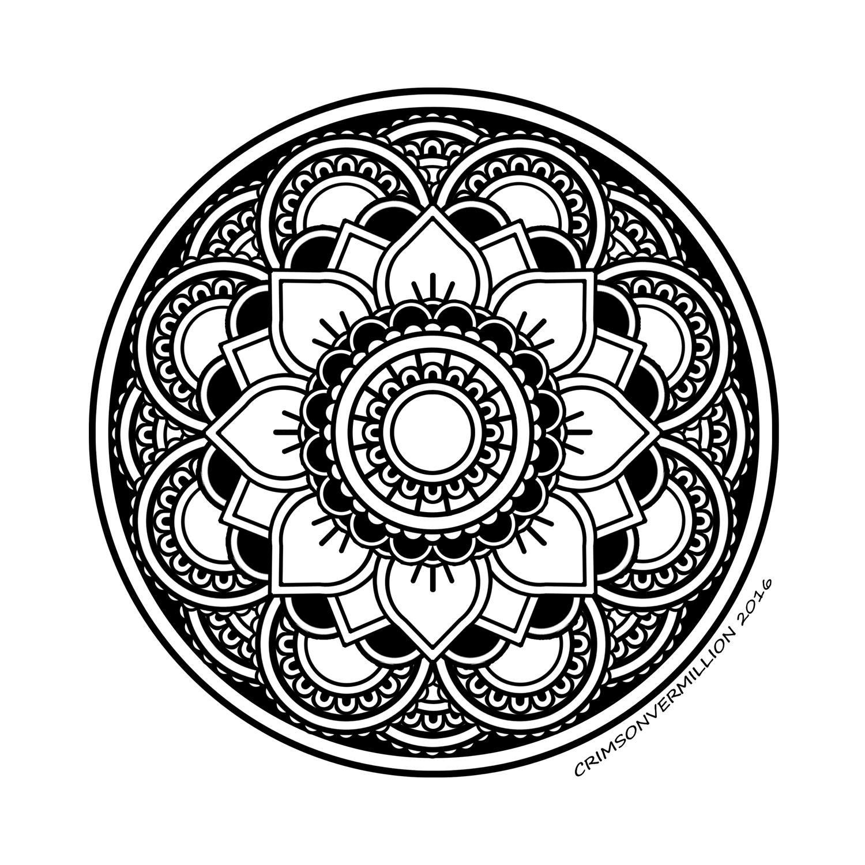 Disegni da Colorare per Adulti : Mandalas - 7