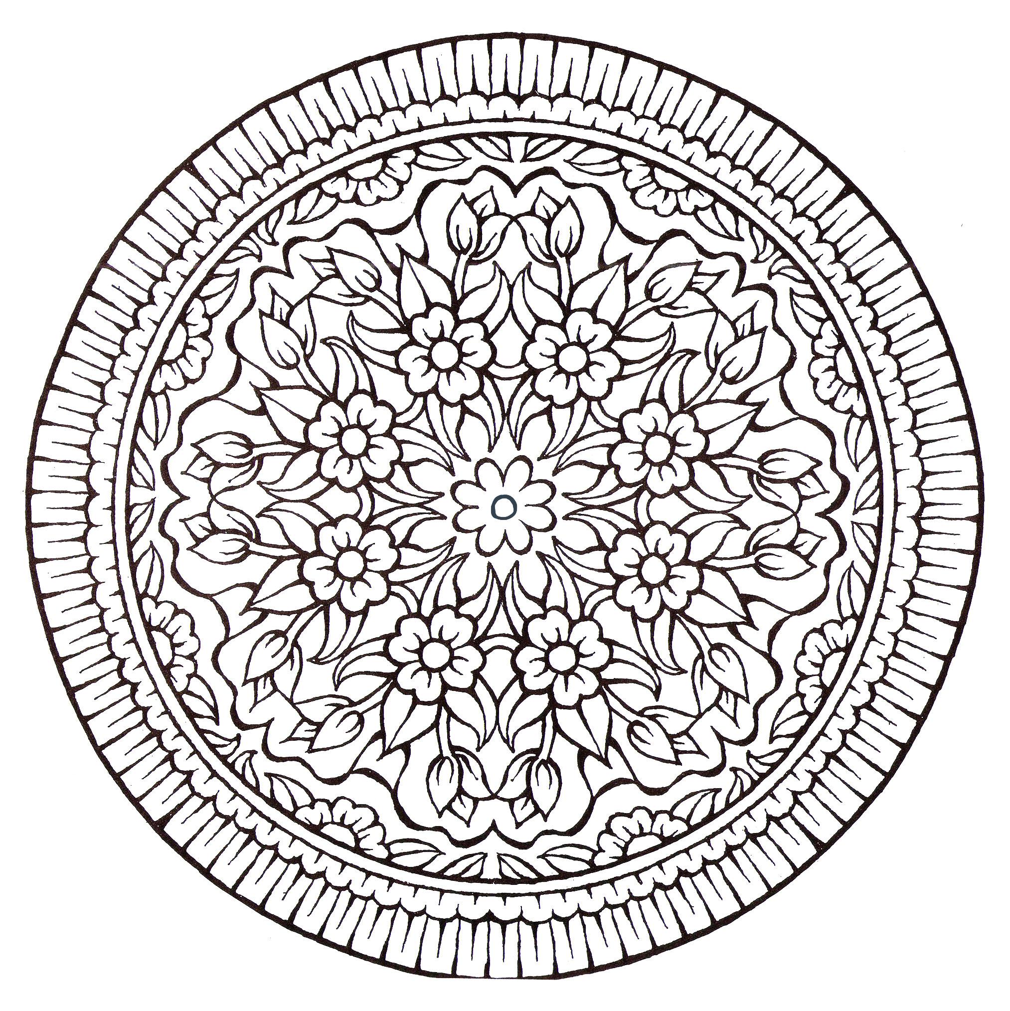 Disegni da colorare per adulti : Mandalas - 118