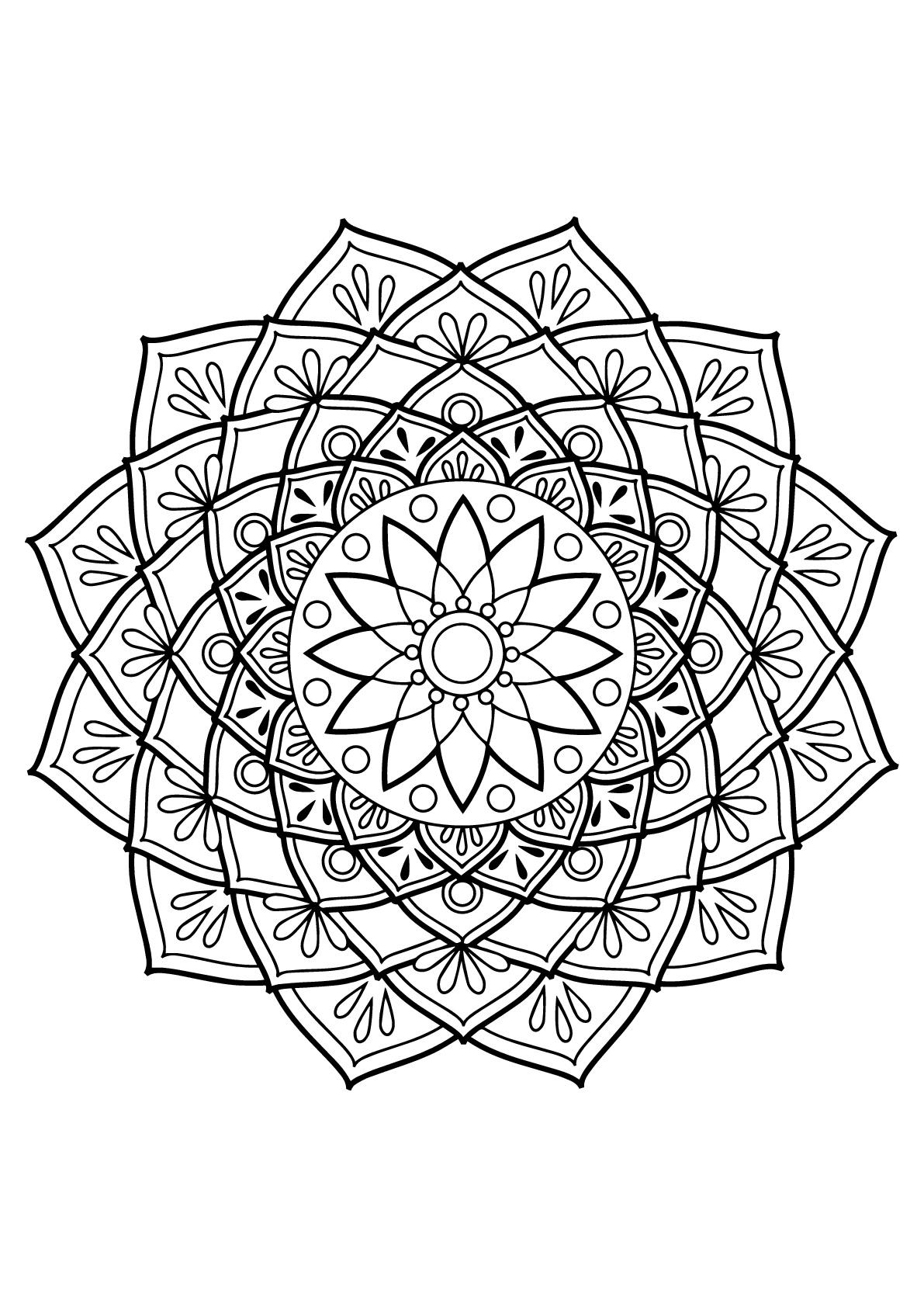 Disegni da colorare per adulti : Mandalas - 19