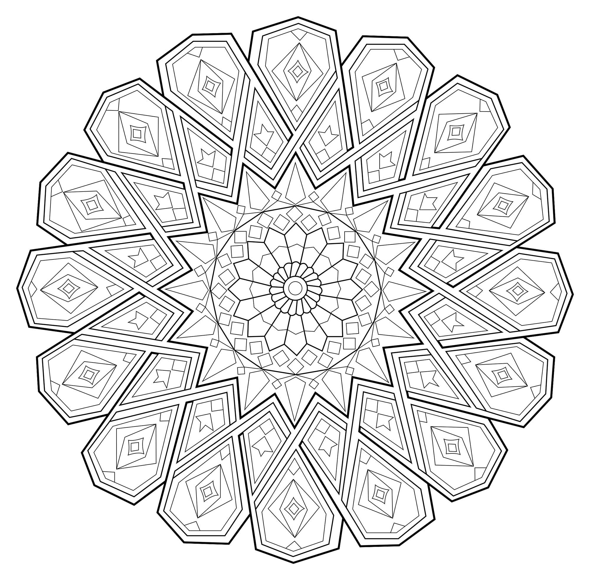Disegni da colorare per adulti : Mandalas - 233