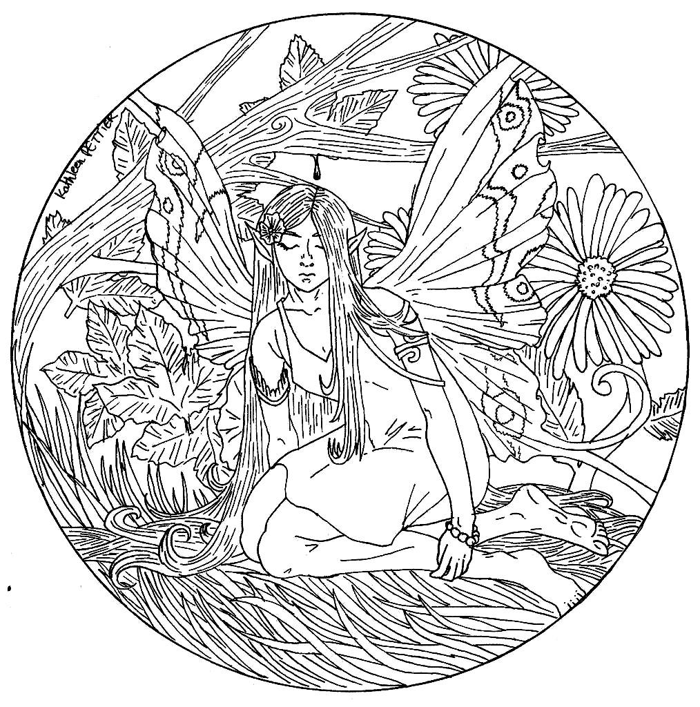 Disegni da colorare per adulti : Mandalas - 42