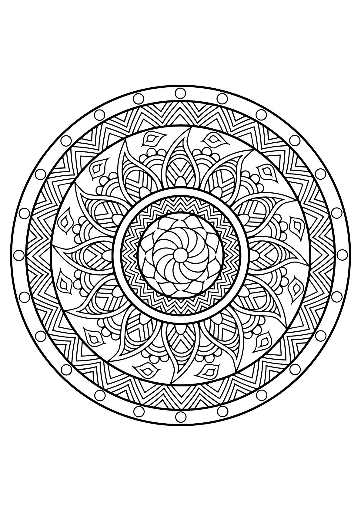 Disegni da colorare per adulti : Mandalas - 25