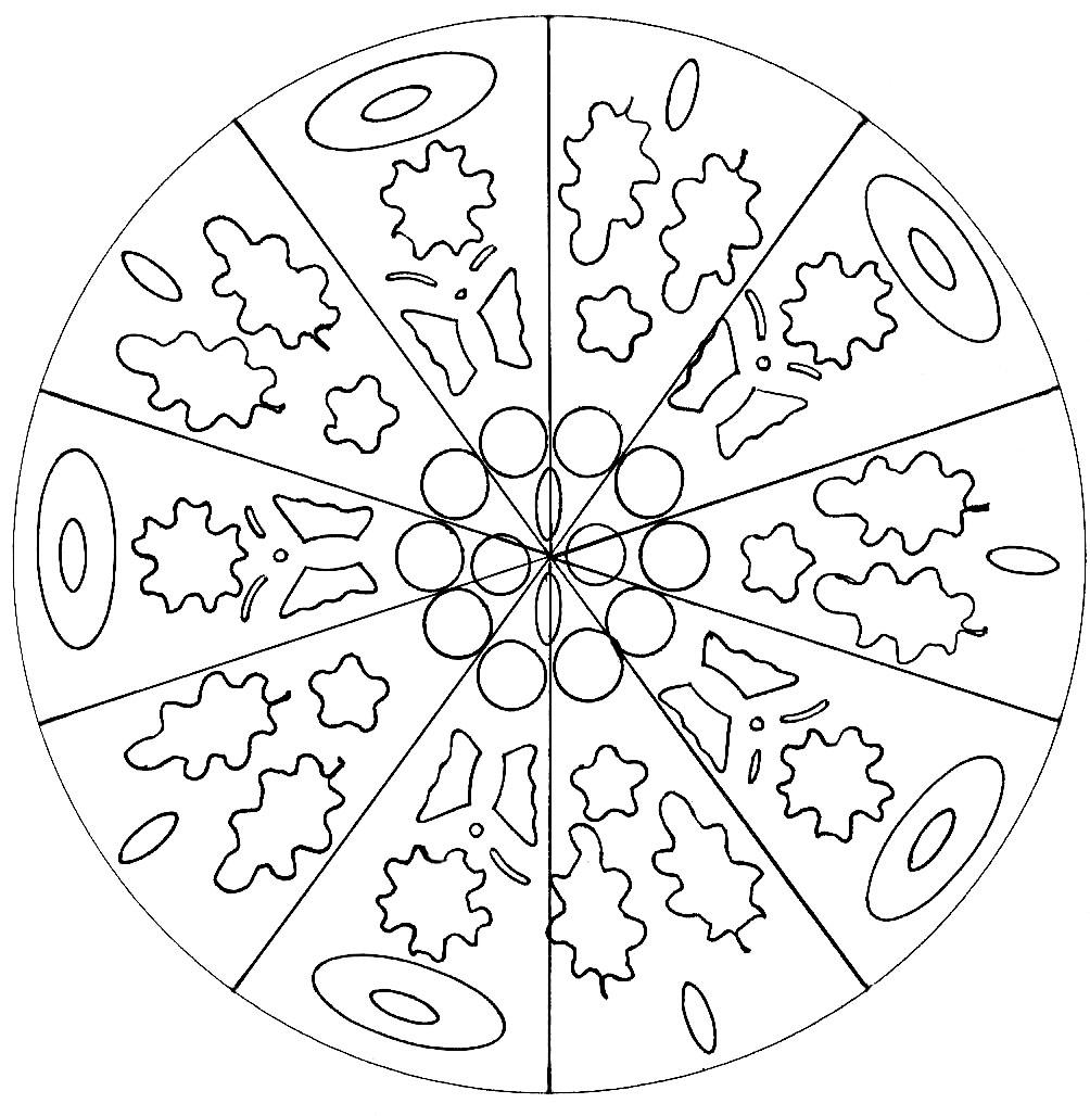 Disegni da colorare per adulti : Mandalas - 169