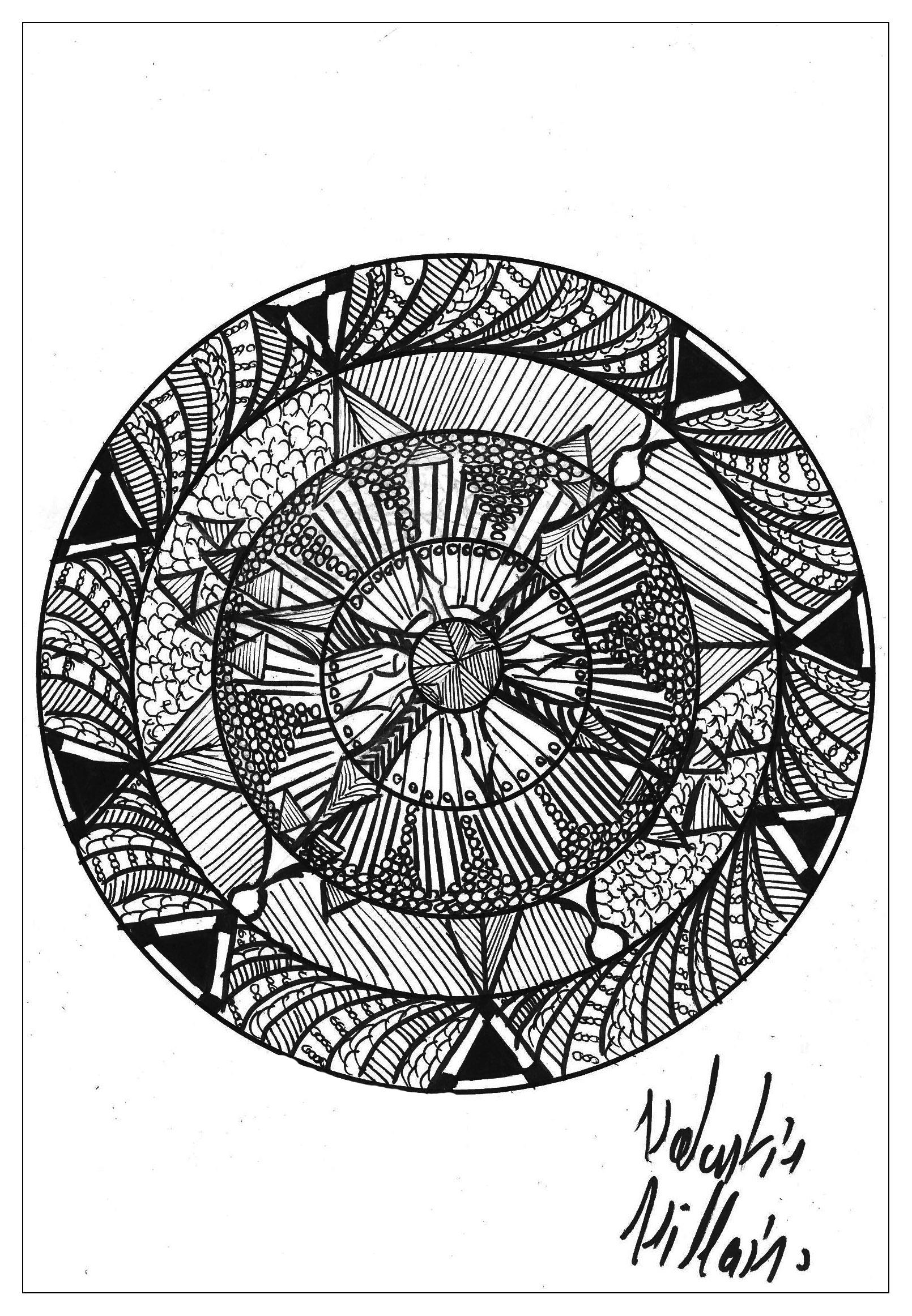 Disegni da colorare per adulti : Mandalas - 102
