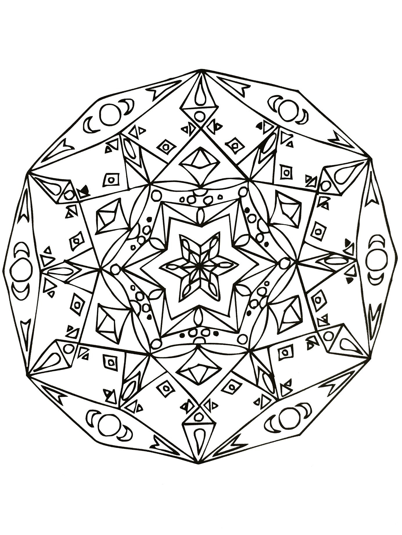 Disegni da colorare per adulti : Mandalas - 64