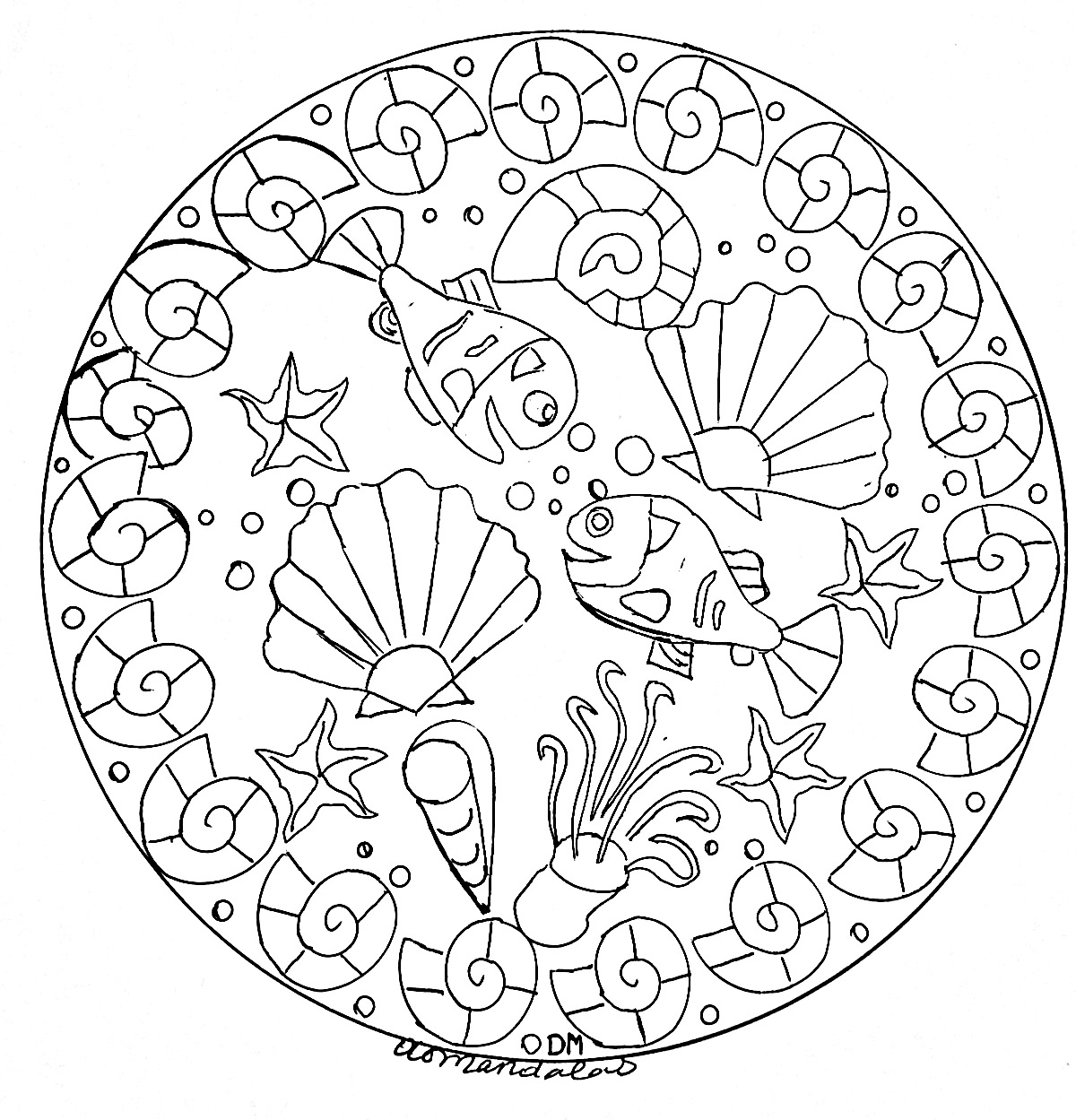 Disegni da colorare per adulti : Mandalas - 191