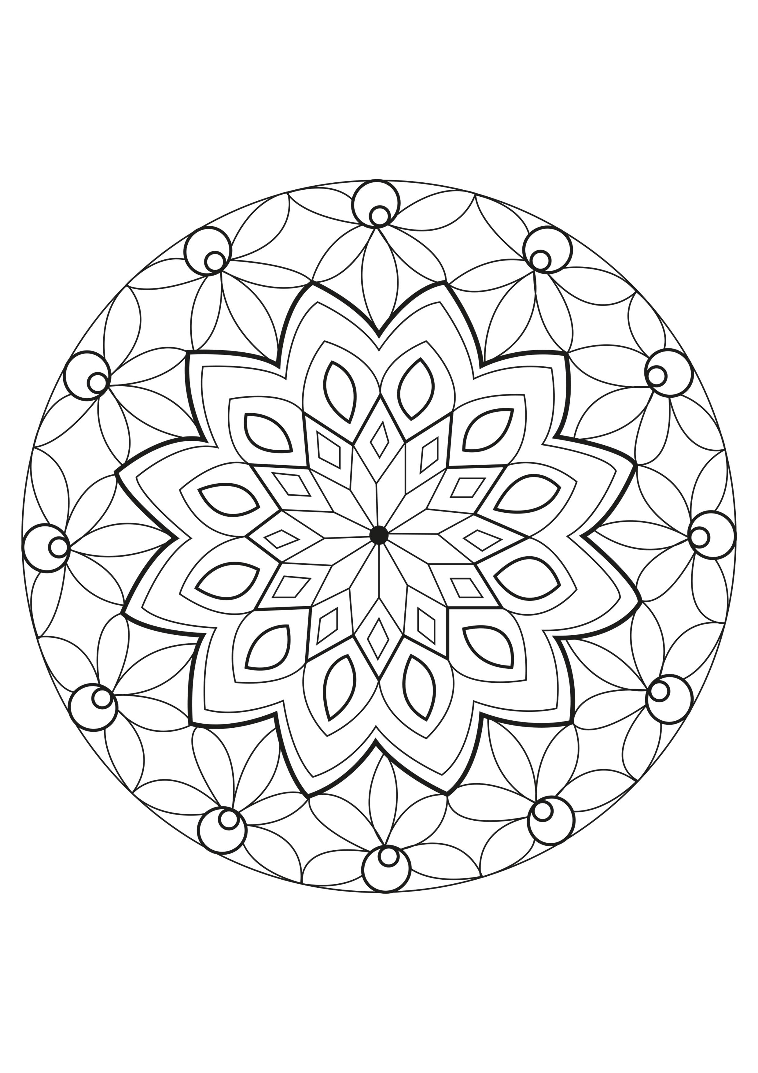 Disegni da colorare per adulti : Mandalas - 119