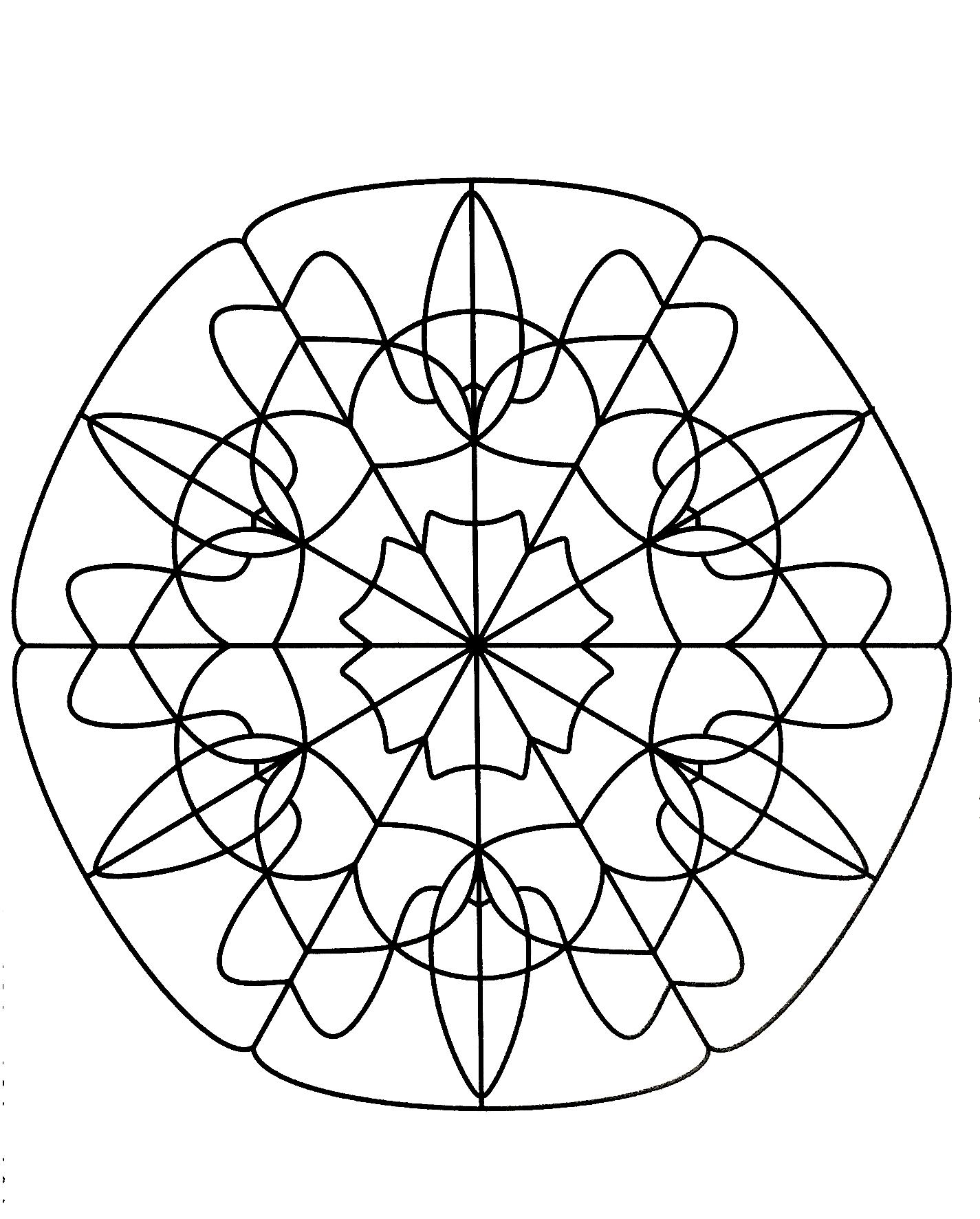 Disegni da colorare per adulti : Mandalas - 62