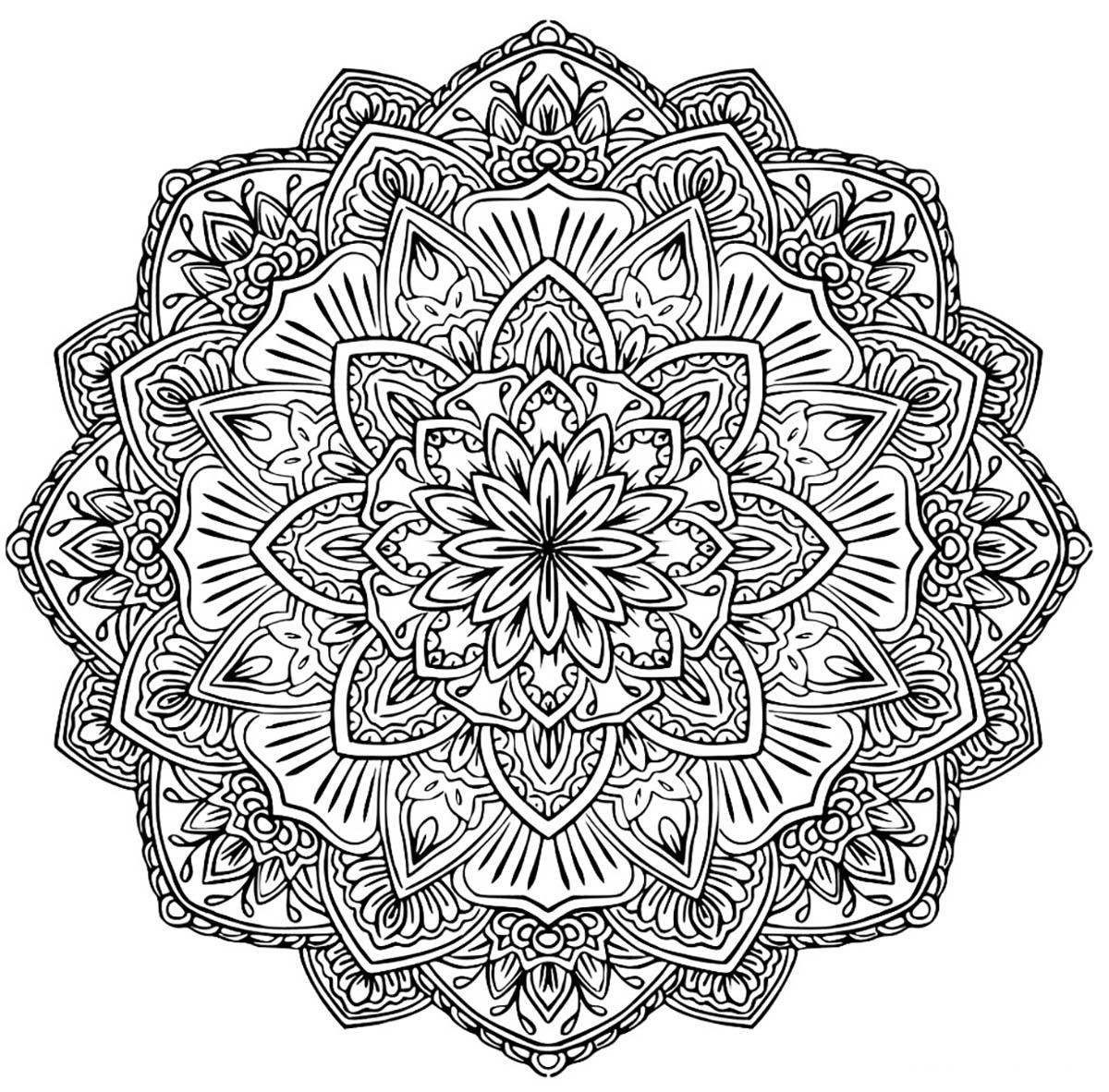 Disegni da colorare per adulti : Mandalas - 128