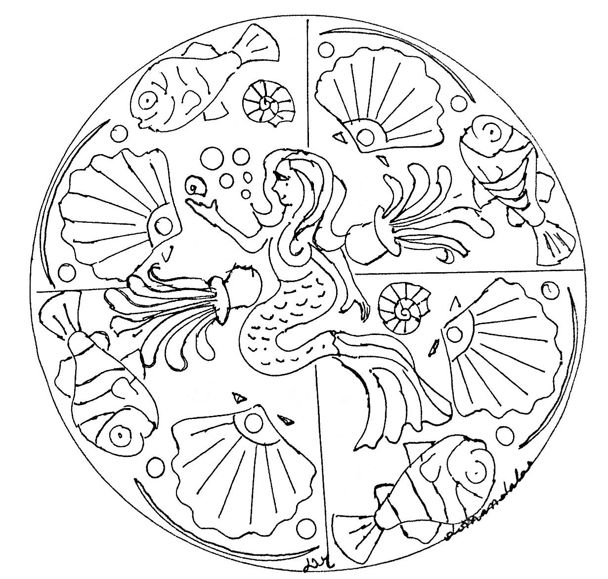 Disegni da colorare per adulti : Mandalas - 186