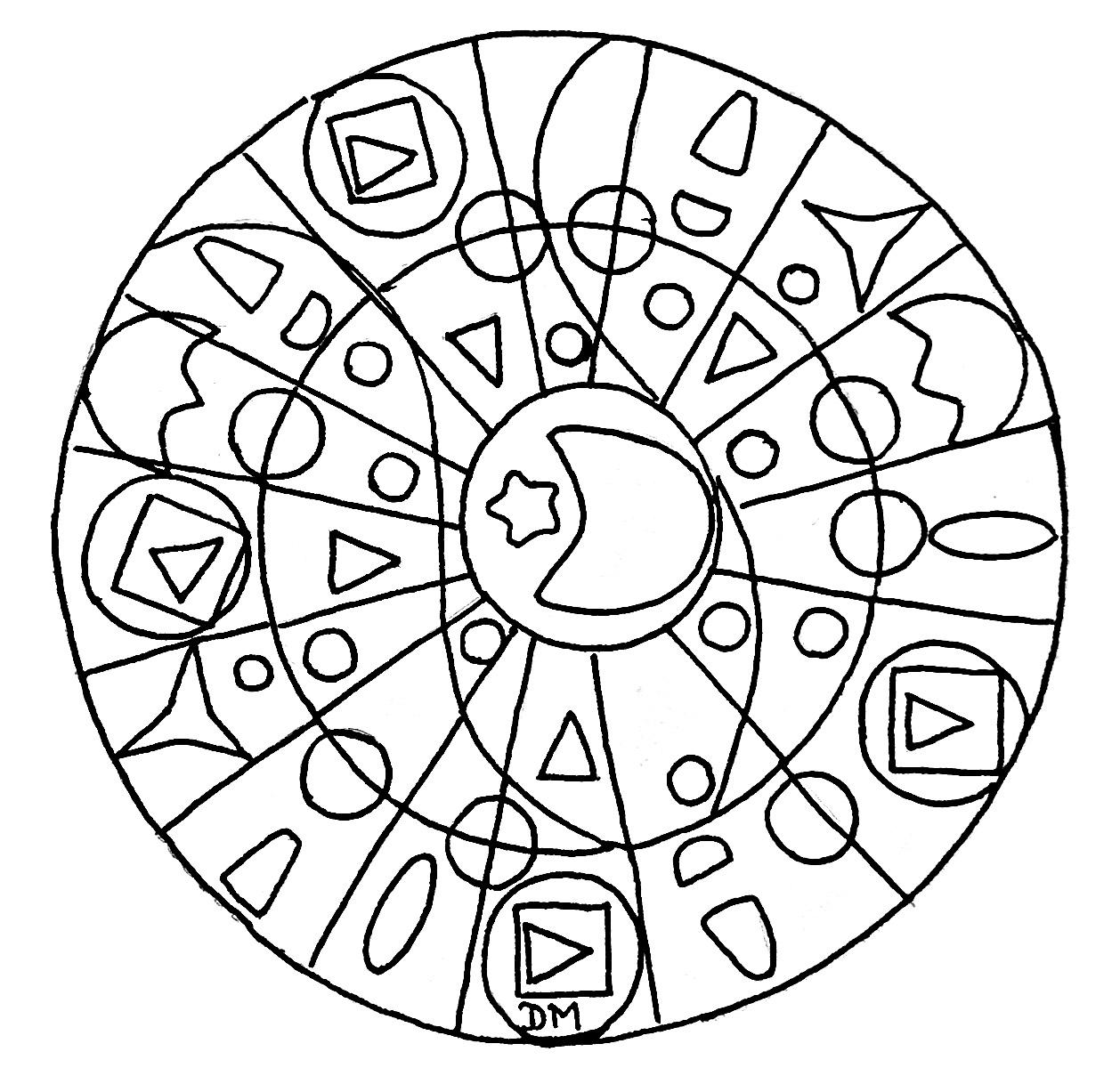 Disegni da colorare per adulti : Mandalas - 194