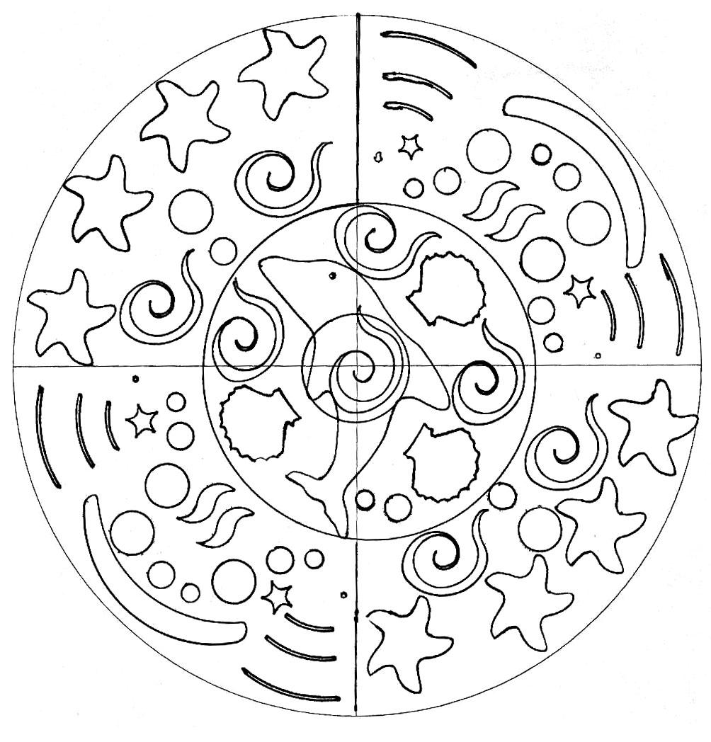 Disegni da colorare per adulti : Mandalas - 152
