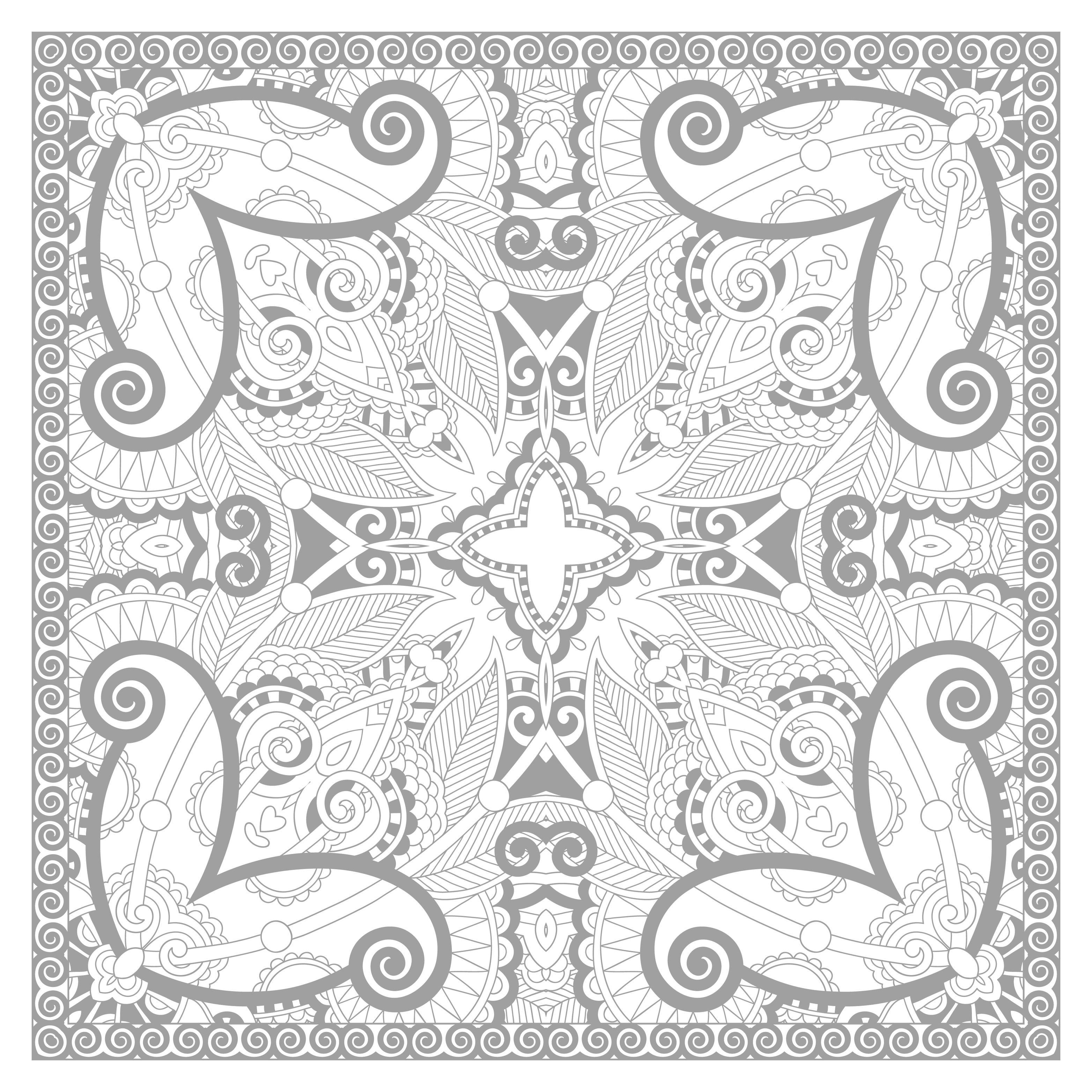Disegni da colorare per adulti : Mandalas - 72
