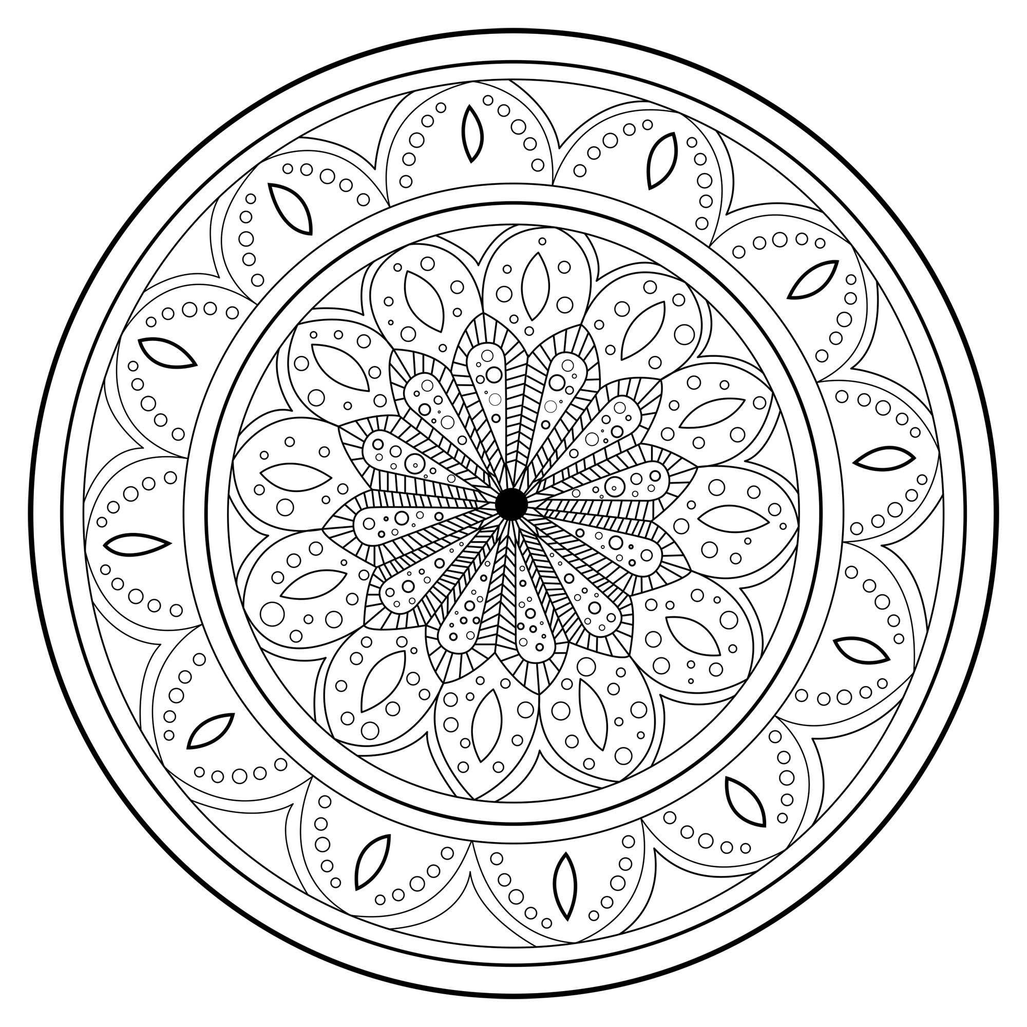 Disegni da colorare per adulti : Mandalas - 236