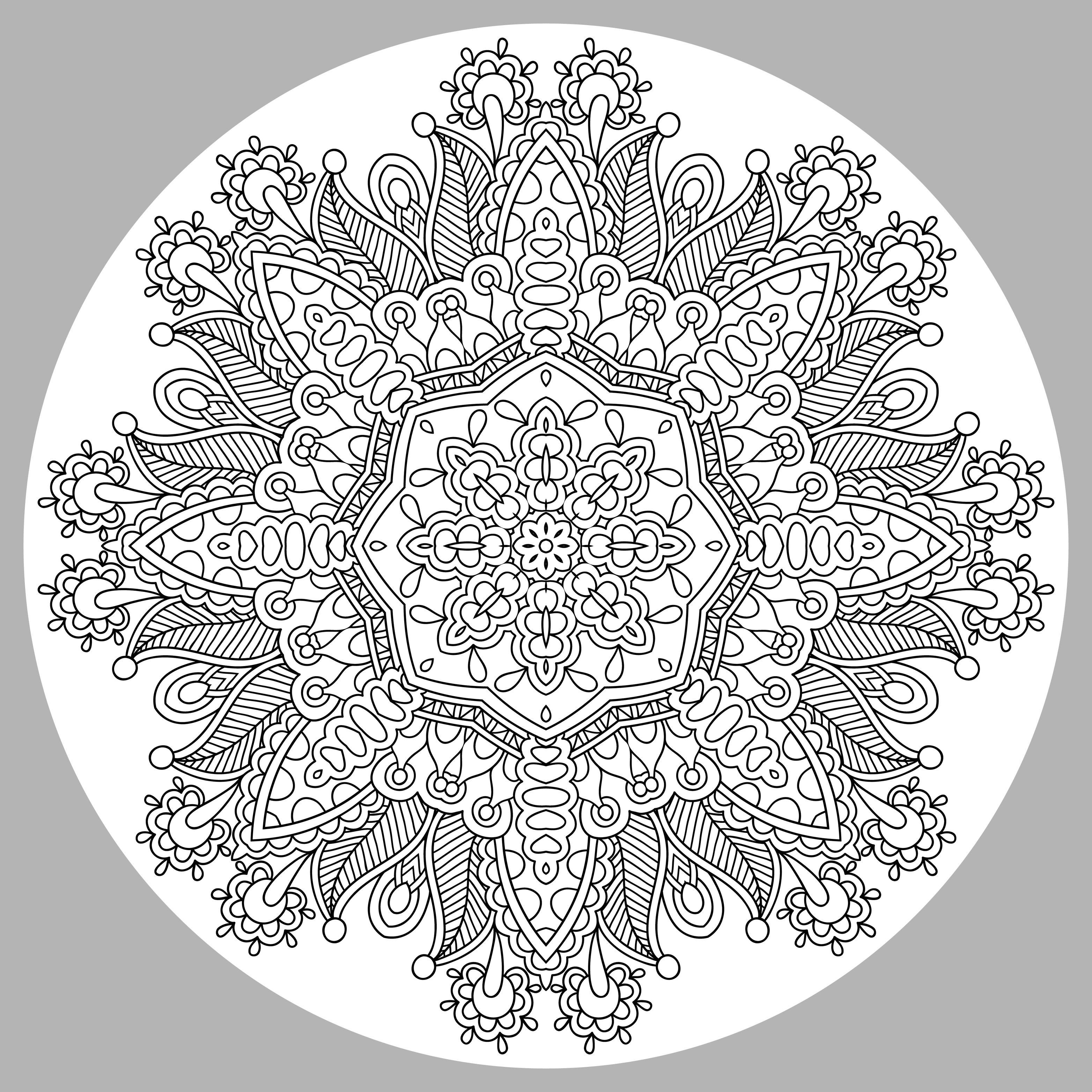Disegni da colorare per adulti : Mandalas - 76