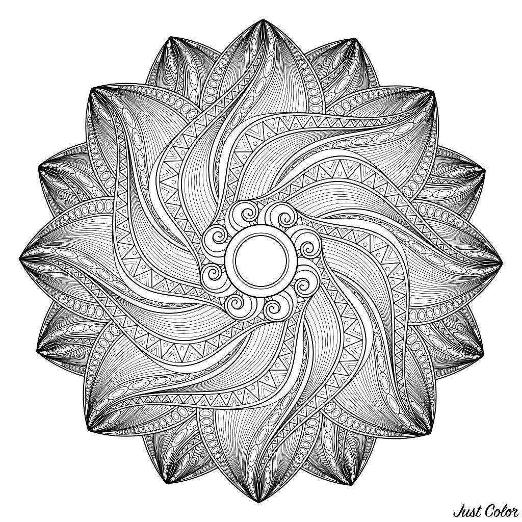 Disegni da Colorare per Adulti : Mandalas - 10