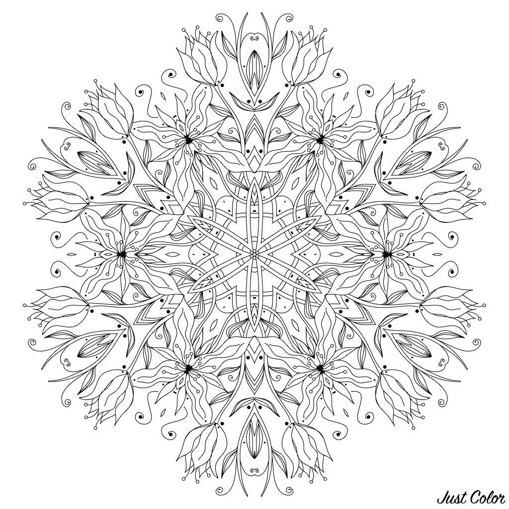 Disegni da colorare per adulti : Mandalas - 112