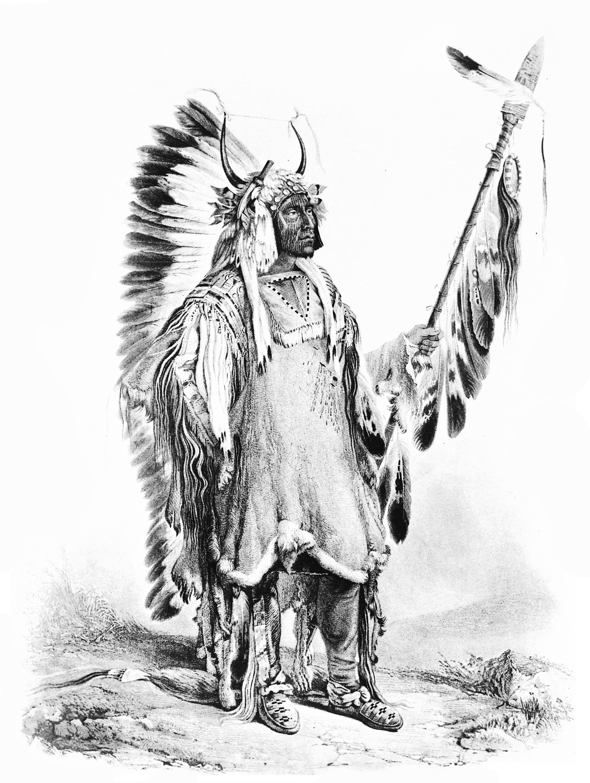 Disegni da colorare per adulti : Indiano dAmerica - 15