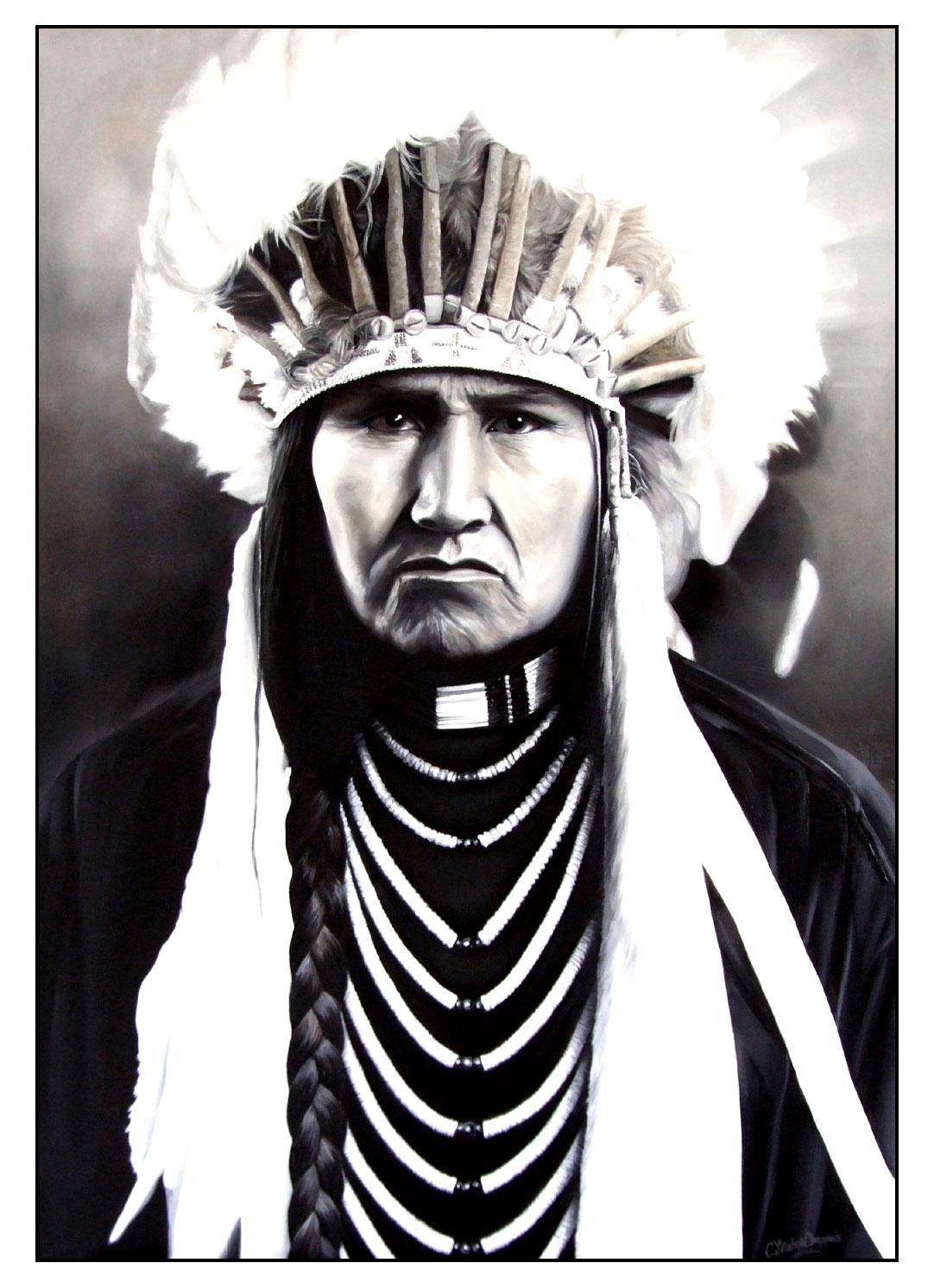 Disegni da colorare per adulti : Indiano dAmerica - 12