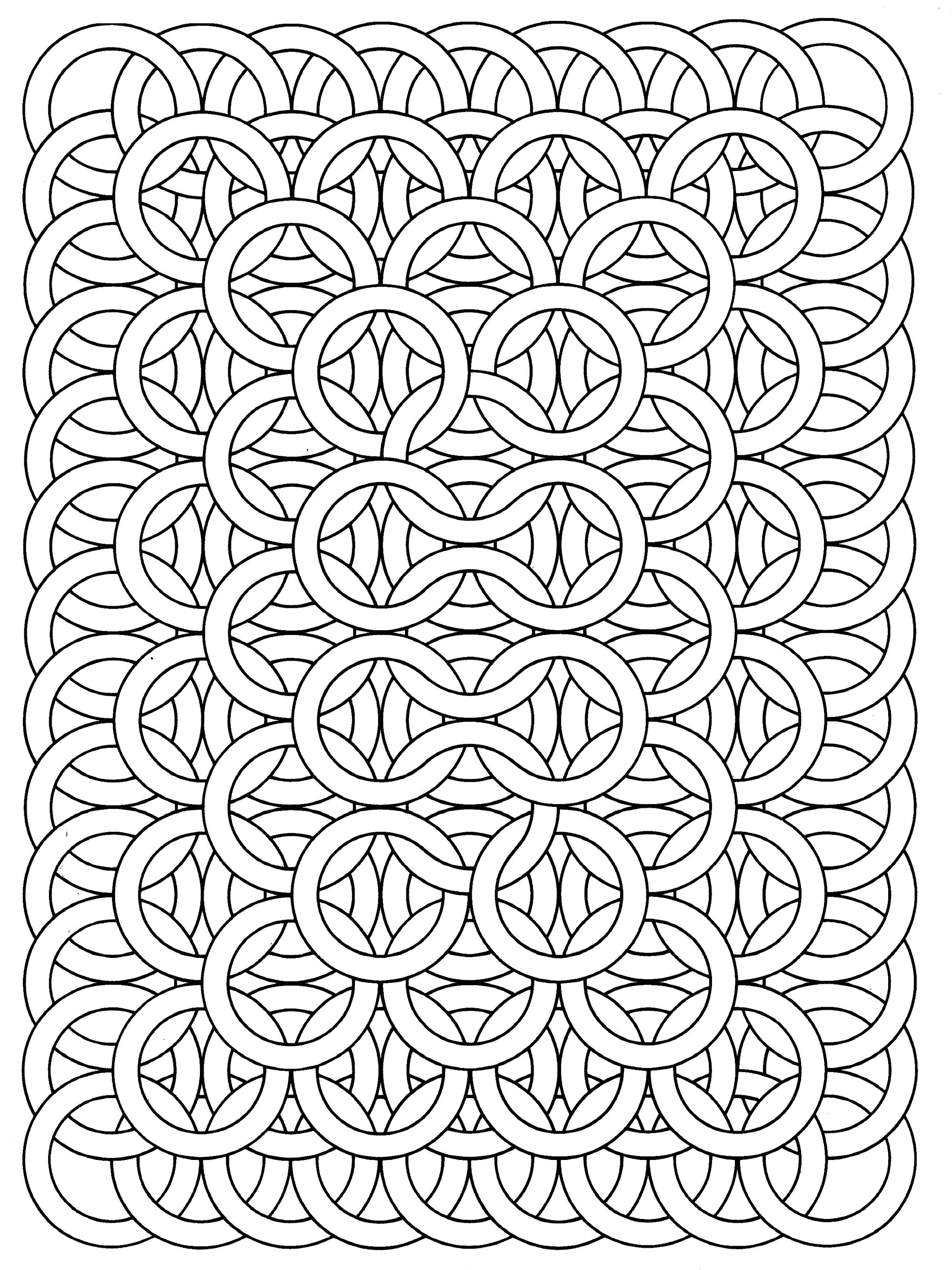 Disegni da colorare per adulti : Op Art - 20
