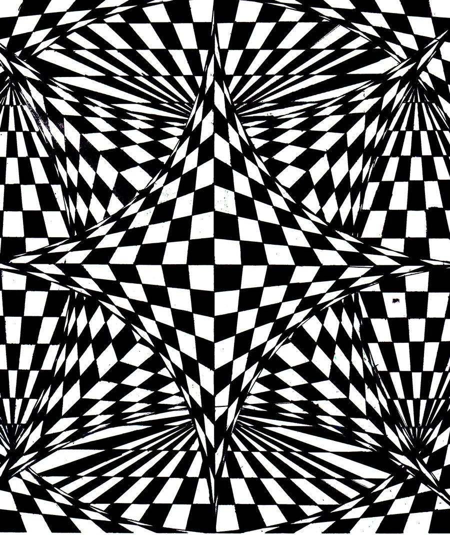 Disegni da colorare per adulti : Op Art - 7