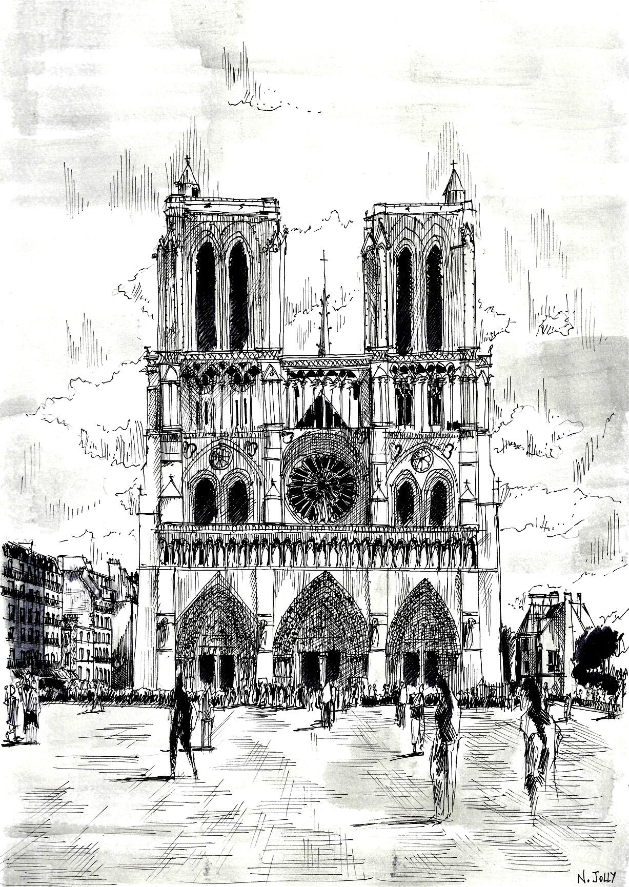 Disegni da colorare per adulti : Paris - 2