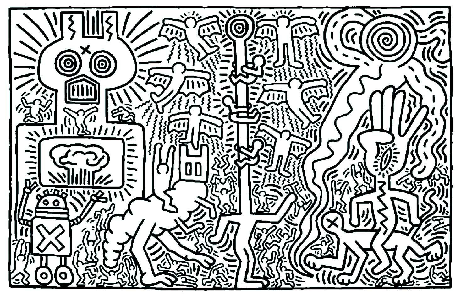 Disegni da colorare per adulti : Pop art - 14