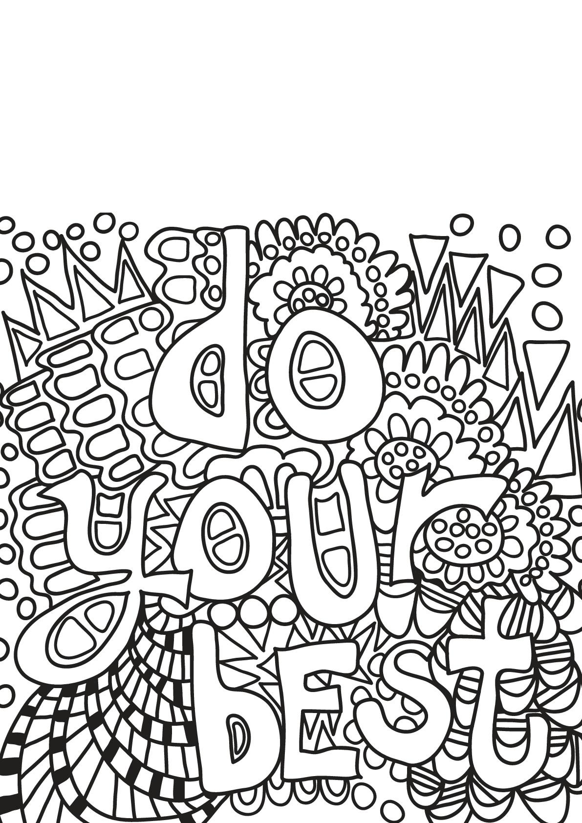 Disegni da colorare per adulti : Citazioni - 8