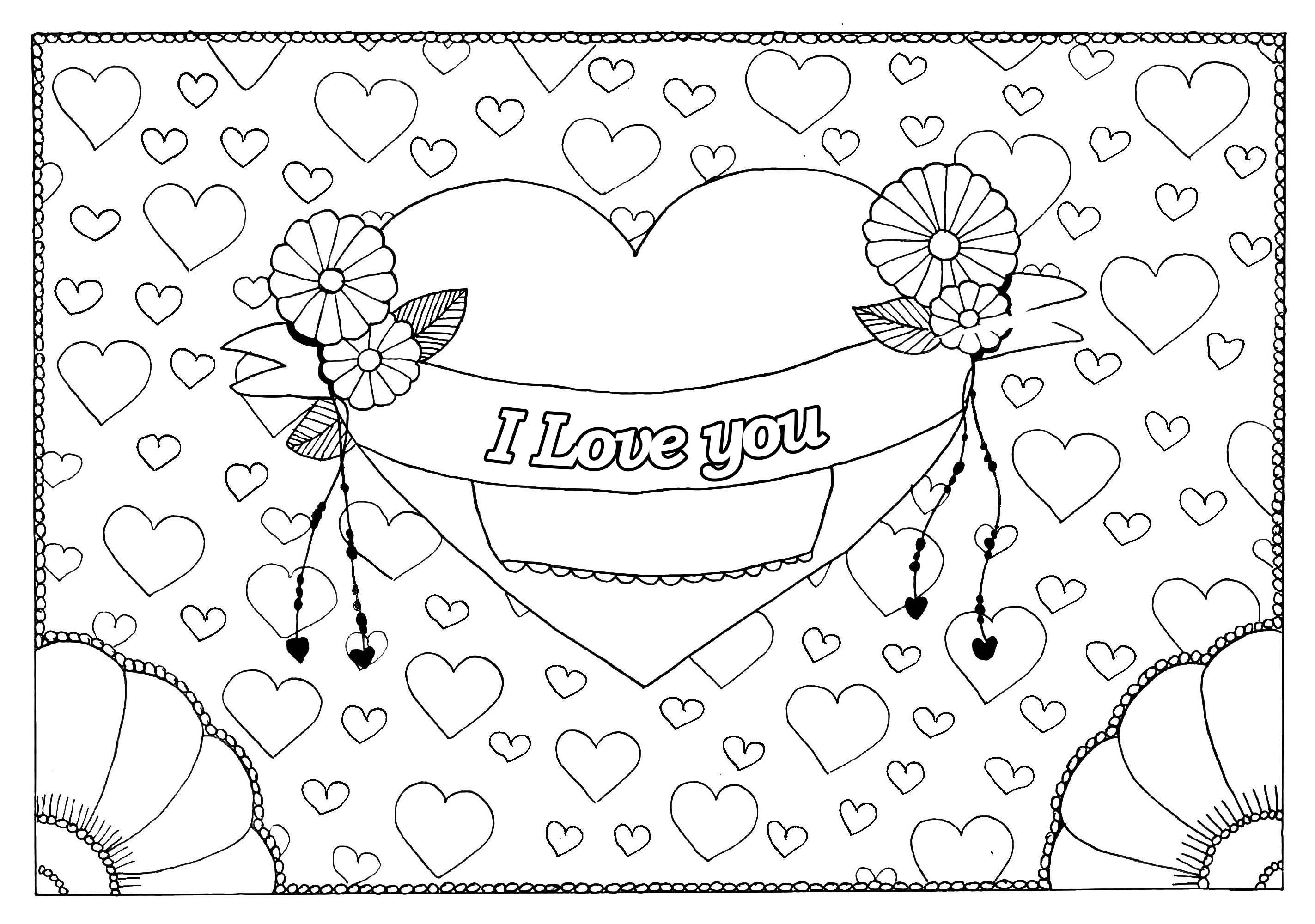 8917 San Valentino Disegni Da Colorare Per Adulti