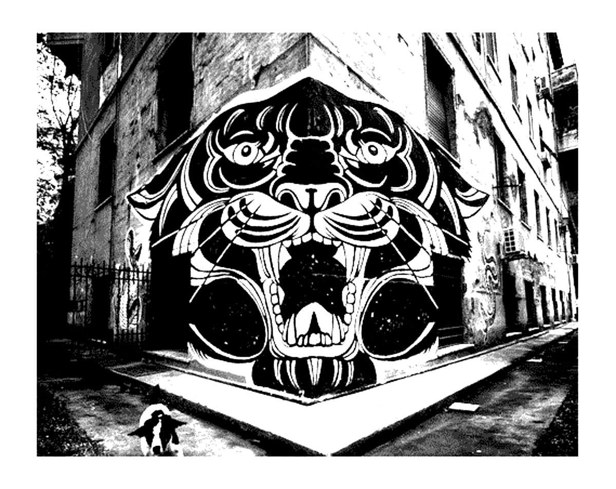 Disegni da colorare per adulti : Graffiti e Street art - 13