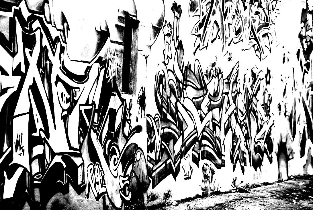 Disegni da colorare per adulti : Graffiti e Street art - 2