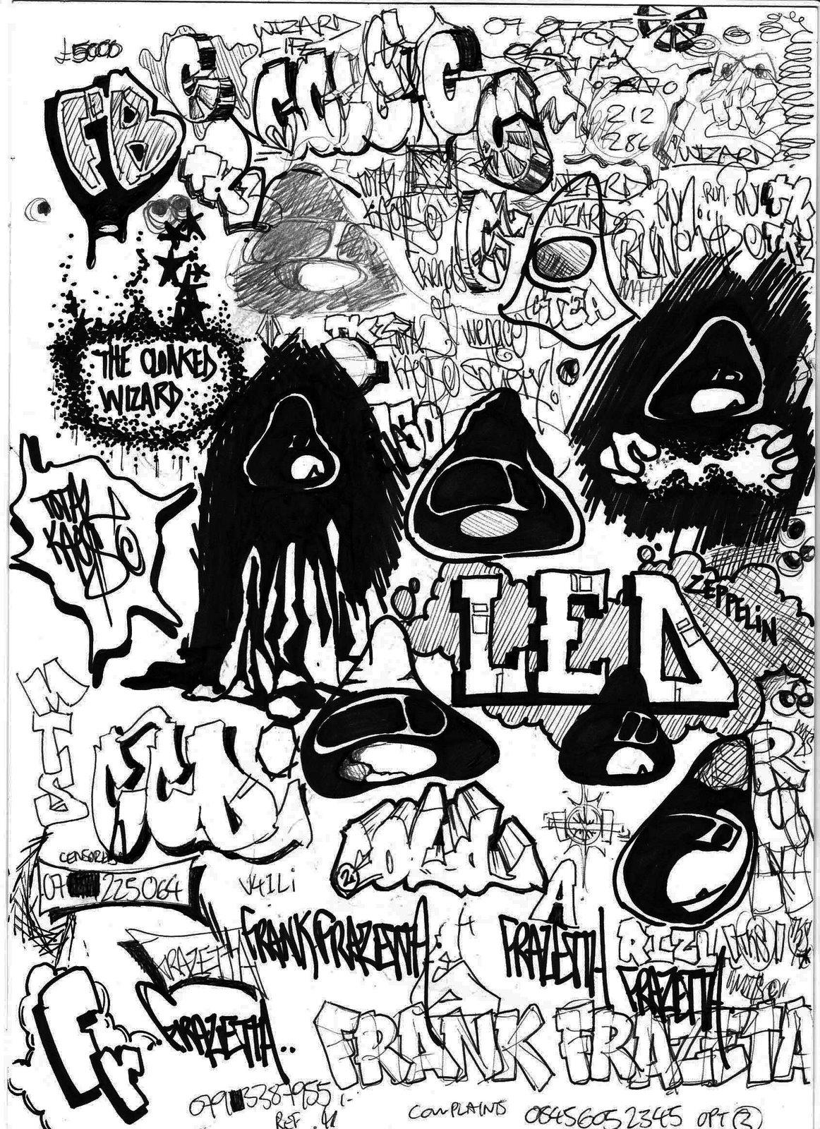 Disegni da colorare per adulti : Graffiti e Street art - 8