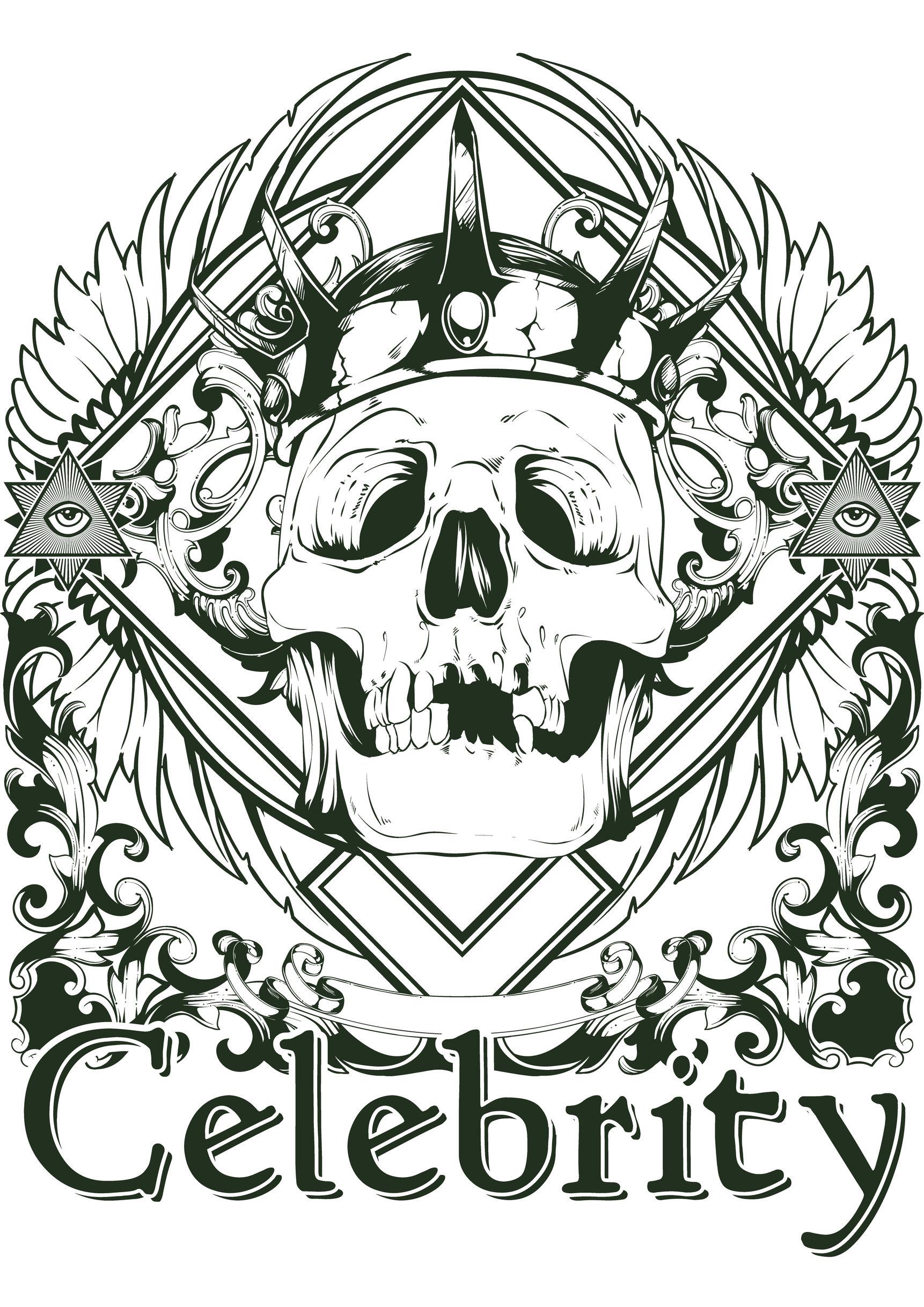 Disegni da colorare per adulti : Tatuaggi - 25