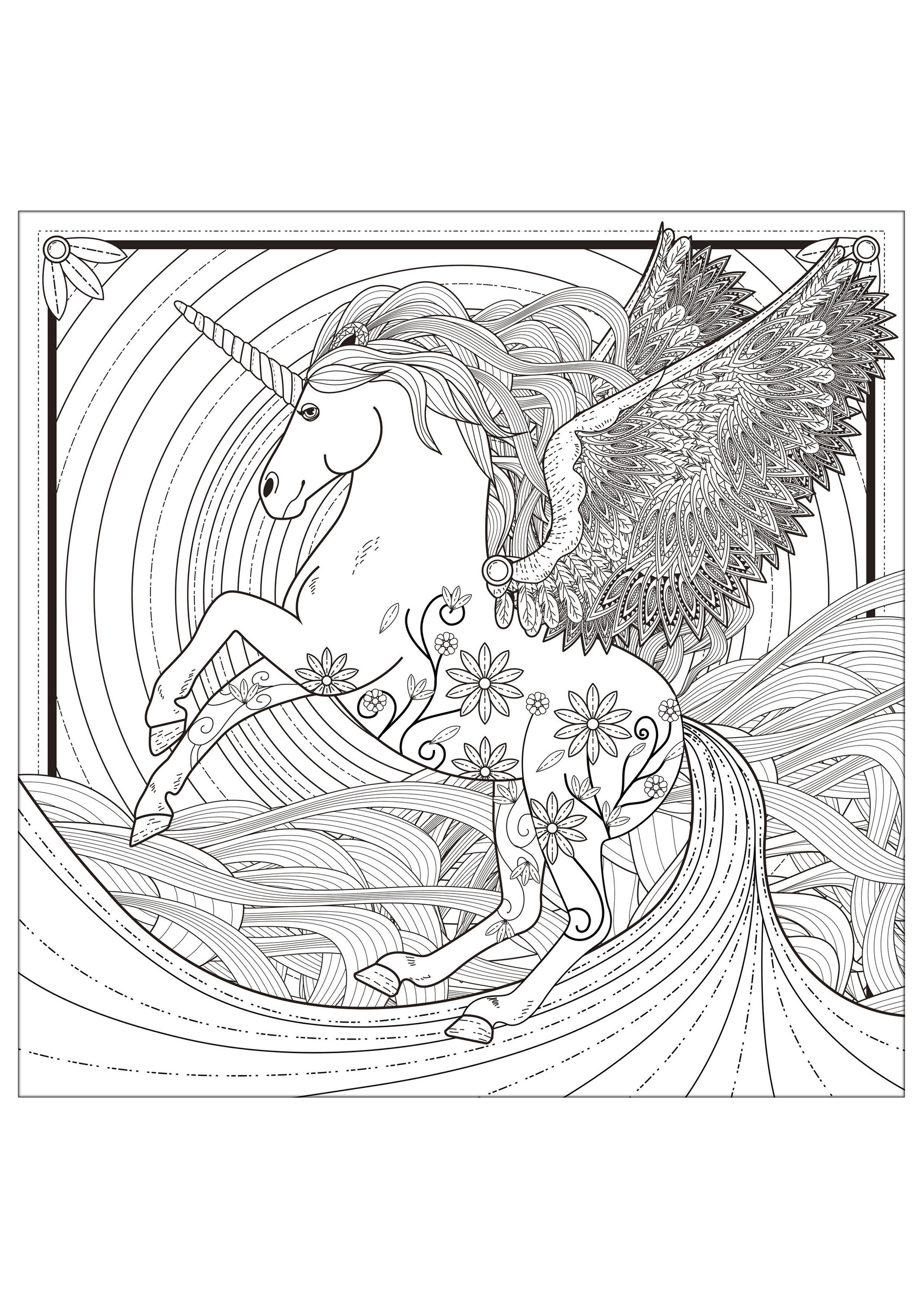 unicorni 1472  unicorni  disegni da colorare per adulti