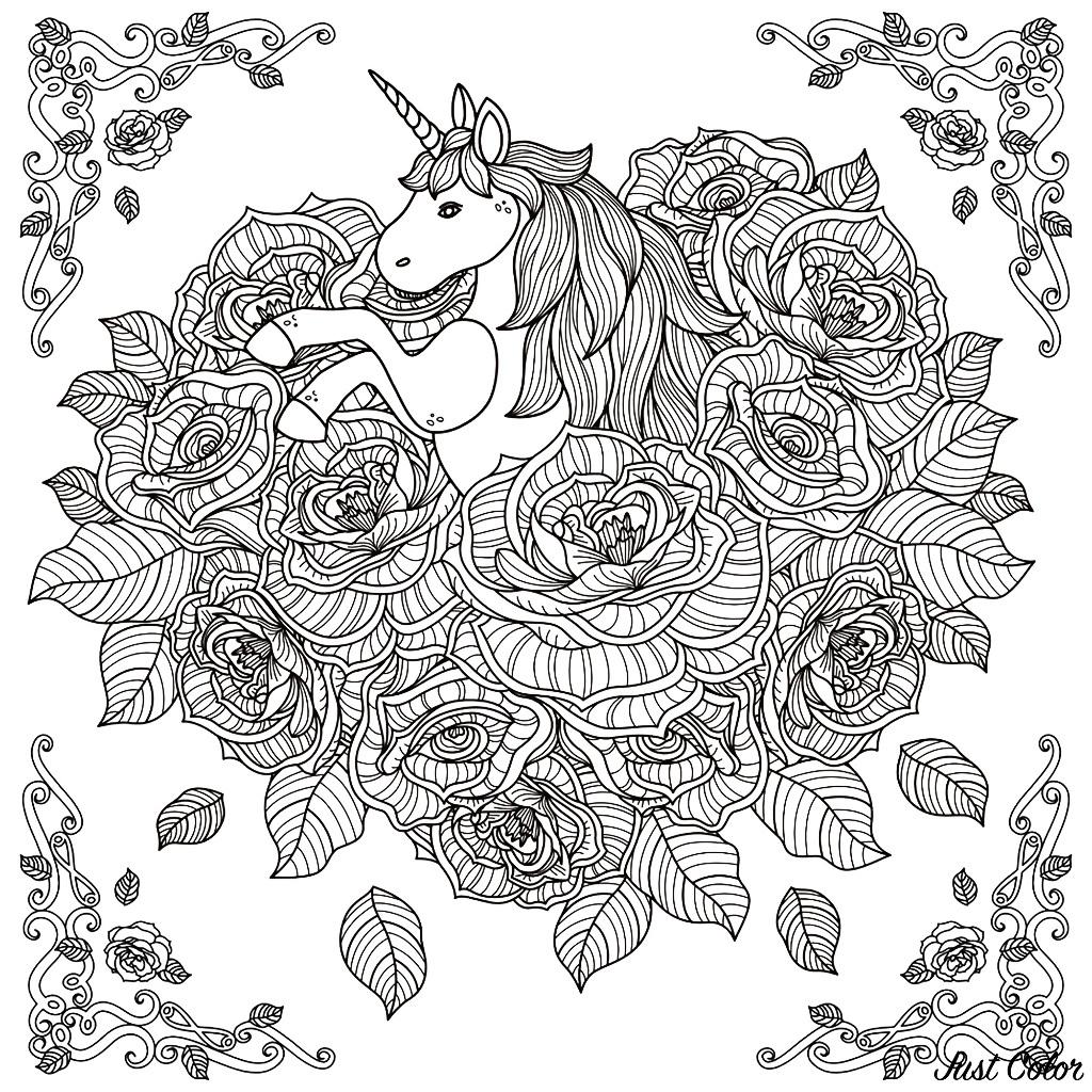 Unicorni 39147 Unicorni Disegni Da Colorare Per Adulti