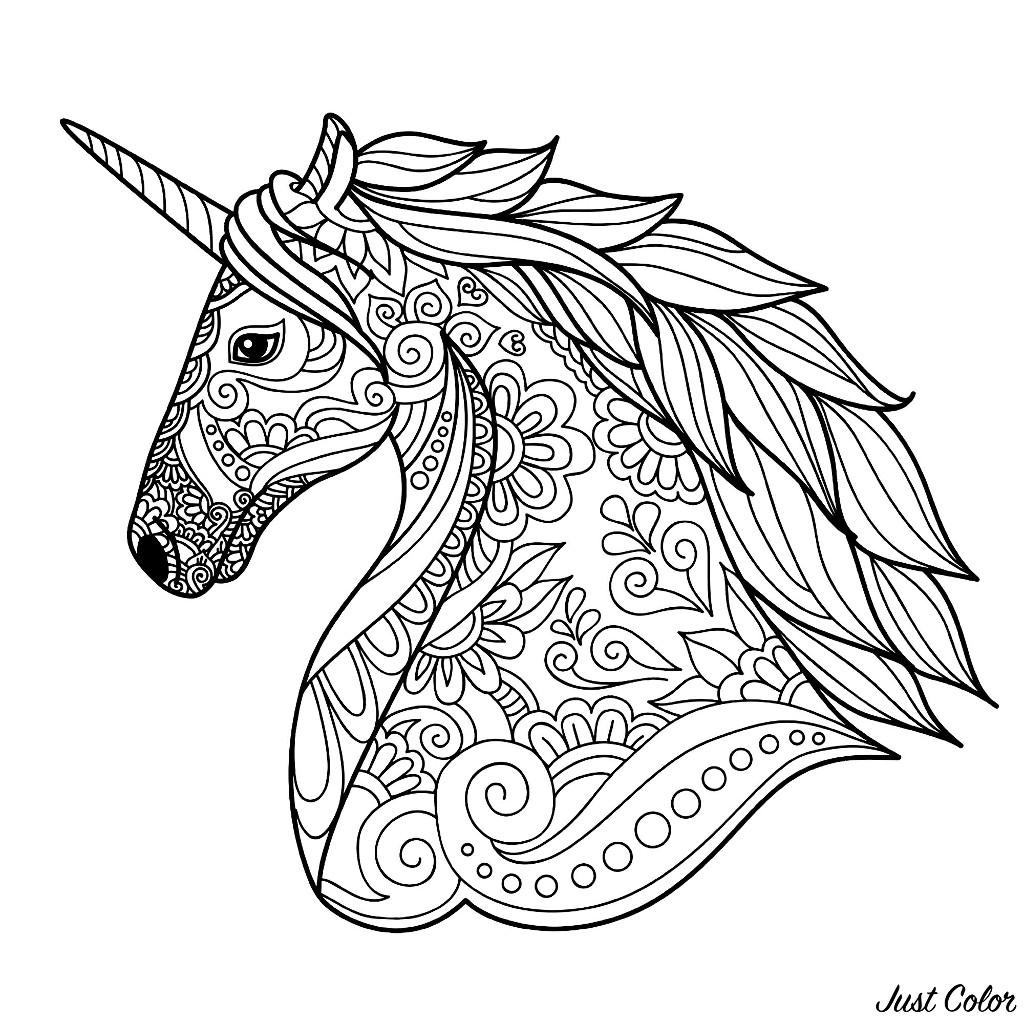 Unicorni 50280 Unicorni Disegni Da Colorare Per Adulti