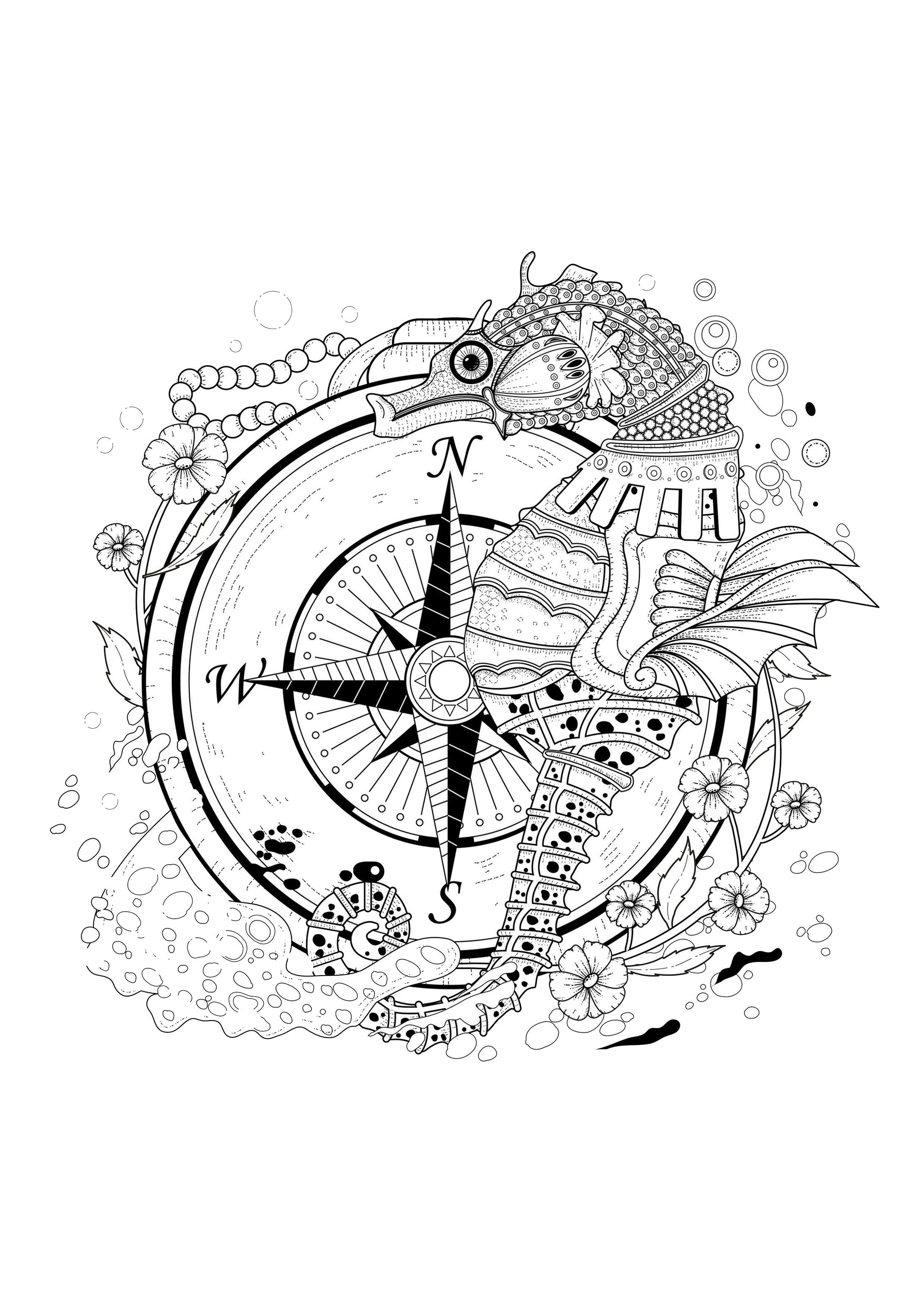 Disegni da colorare per adulti : Water worlds - 18