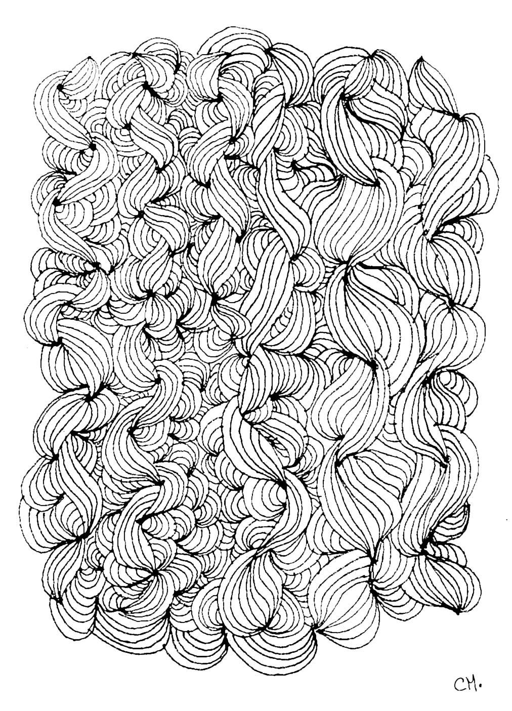 Disegni da colorare per adulti : Zentangle - 3