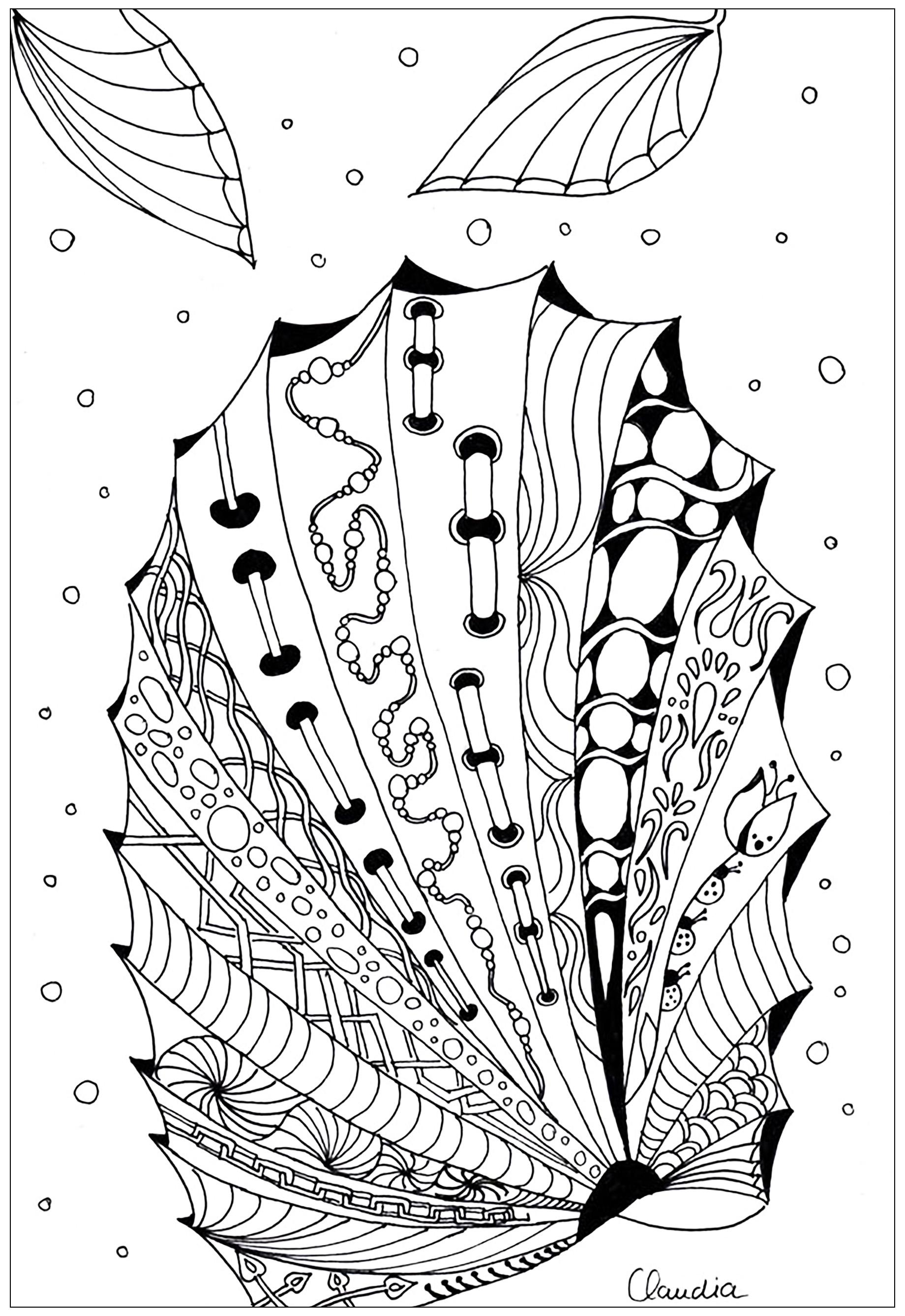 Disegni da colorare per adulti : Zentangle - 46
